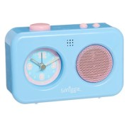 easy to use recording system records your voice message & plays it back when the alarm goes off. battery operated with glow in the dark numbers & cute pastel colours