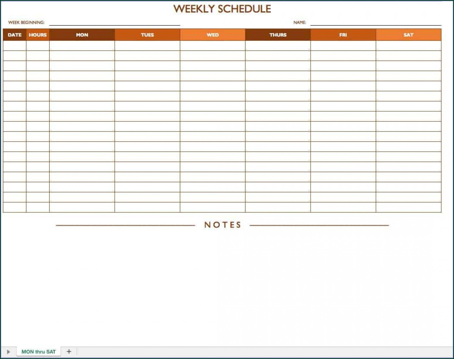Work Schedule Template Daily Templates 1 Resume Examples