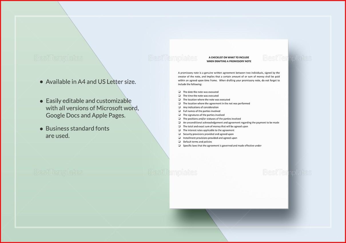 Promissory Note Template Alberta Uncategorized Resume