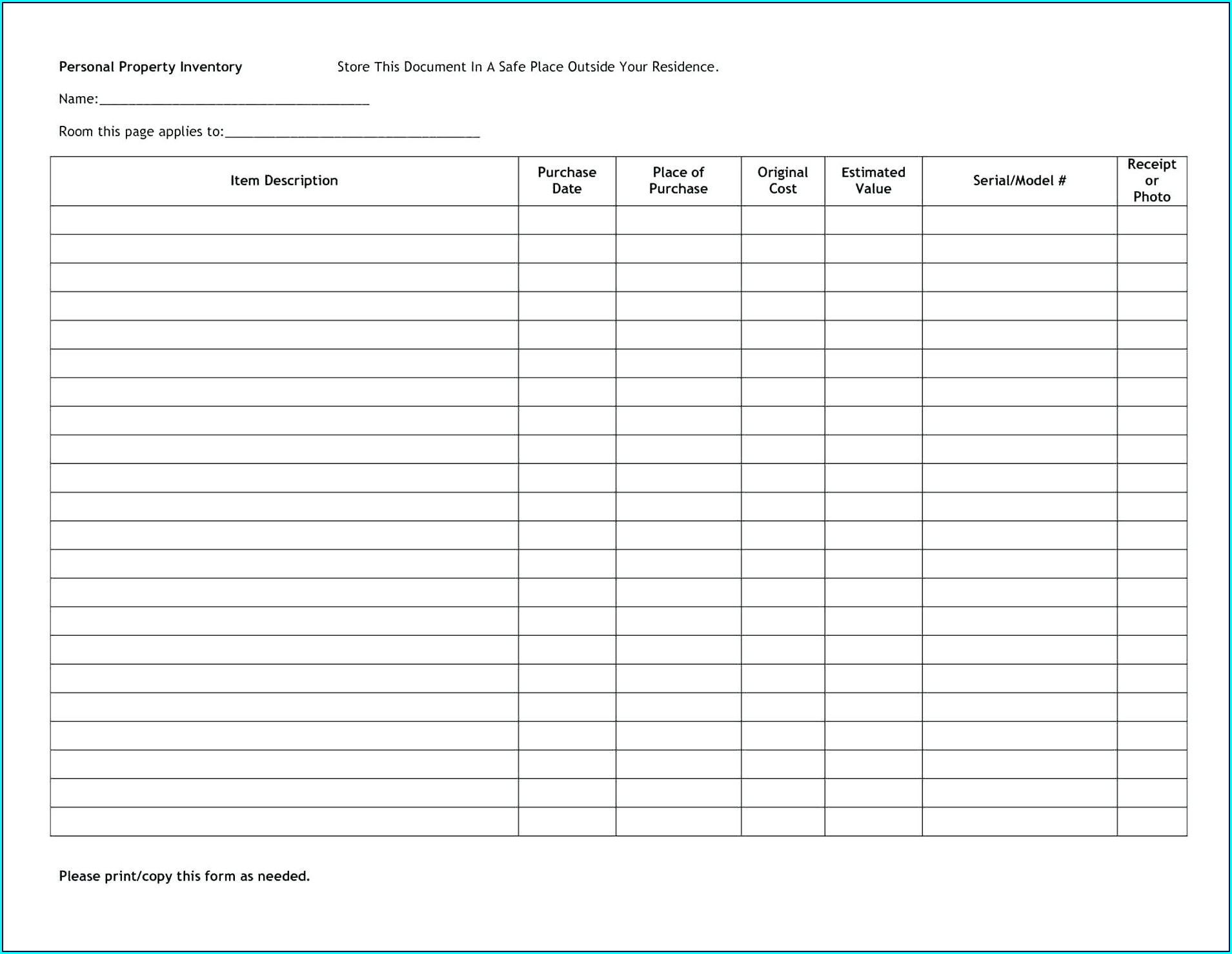 Inventory Management Free Inventory Spreadsheet Template