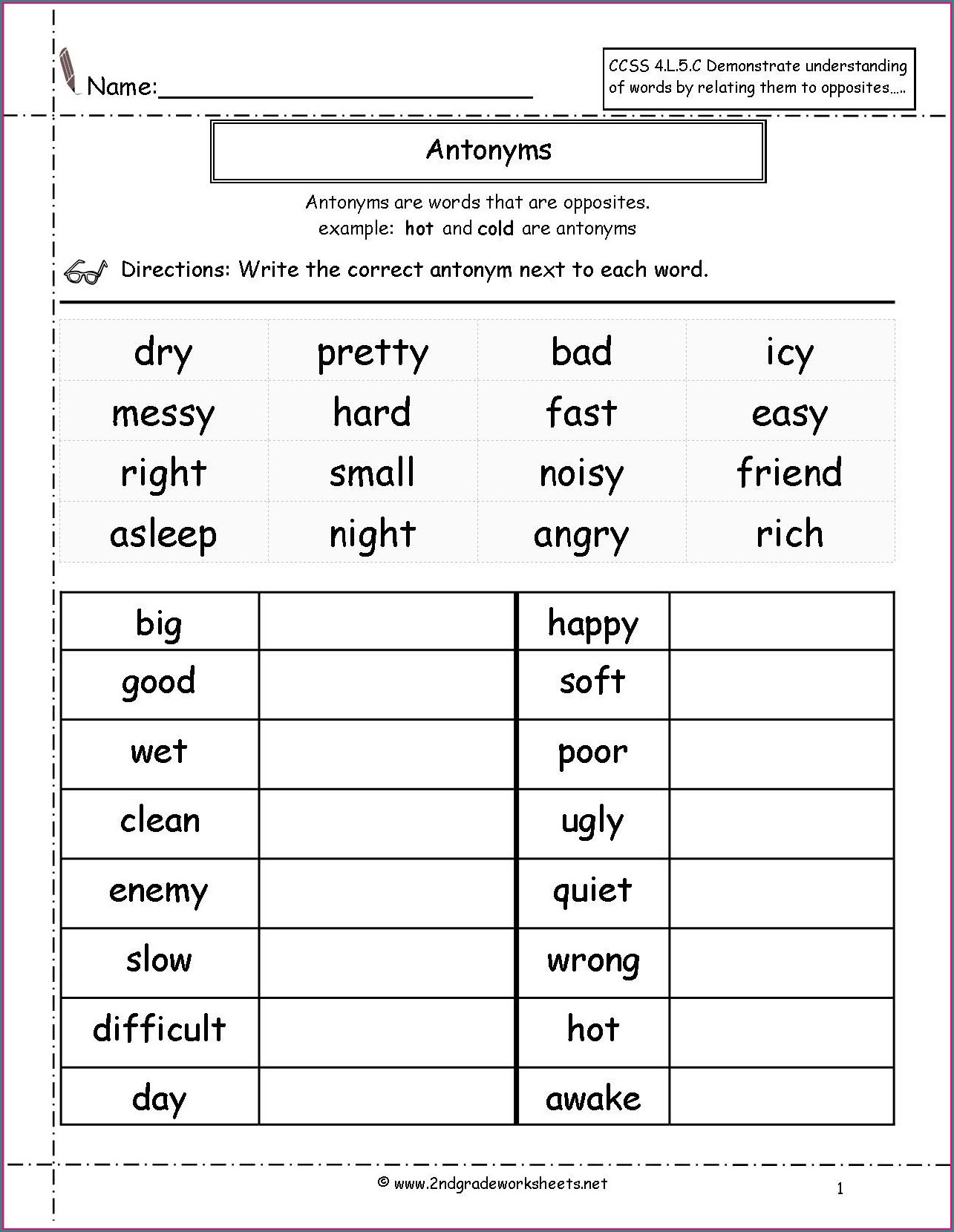 Character Traits Worksheet 1st Grade