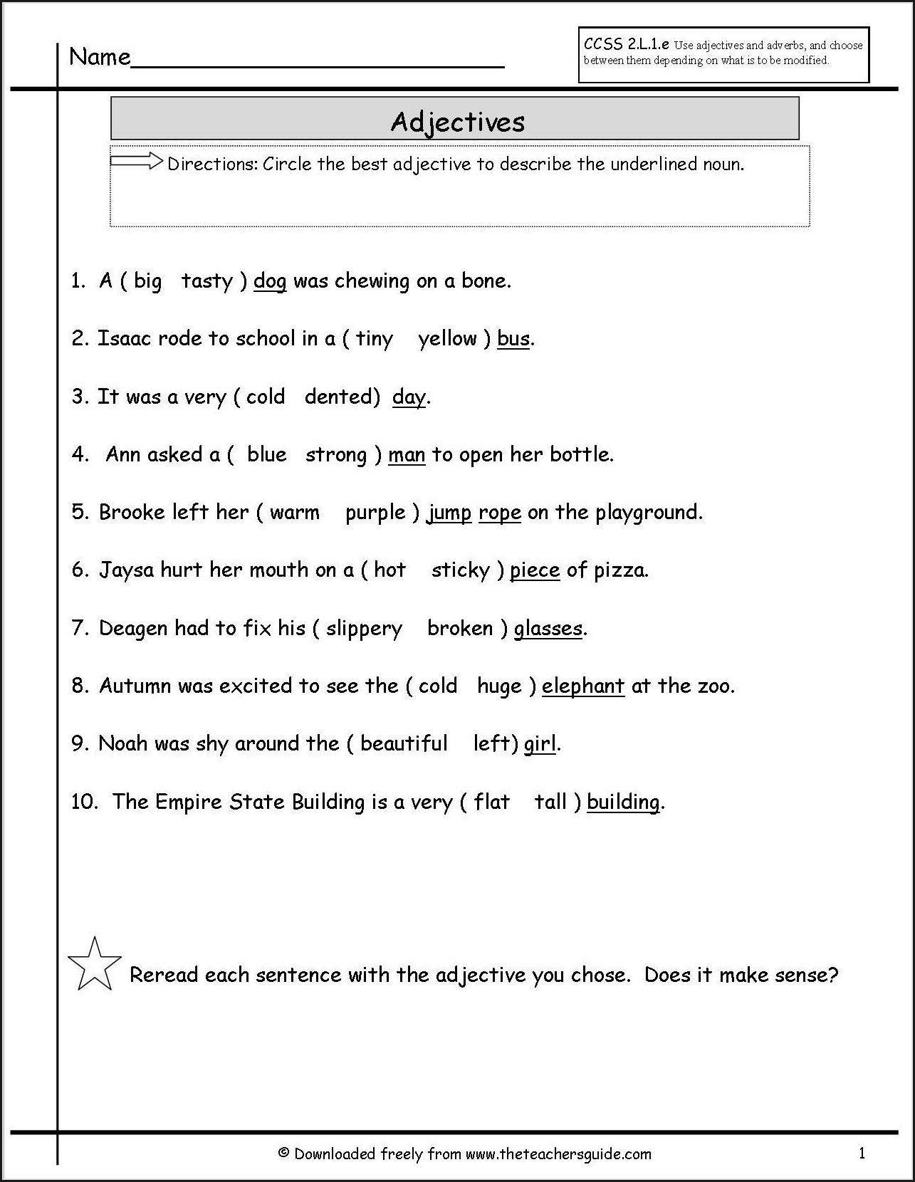 2nd Grade Singular And Plural Nouns Worksheets