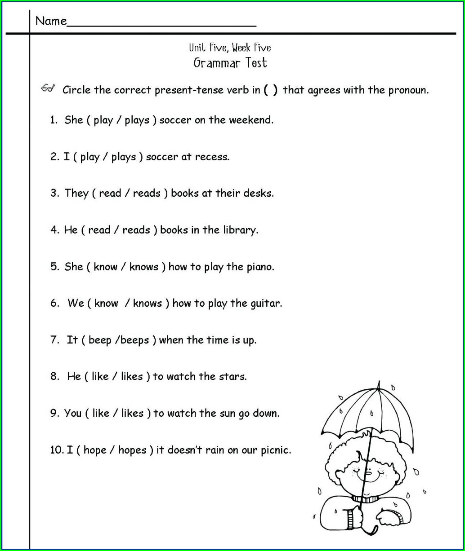 2nd Grade Worksheets English Worksheet Resume Examples