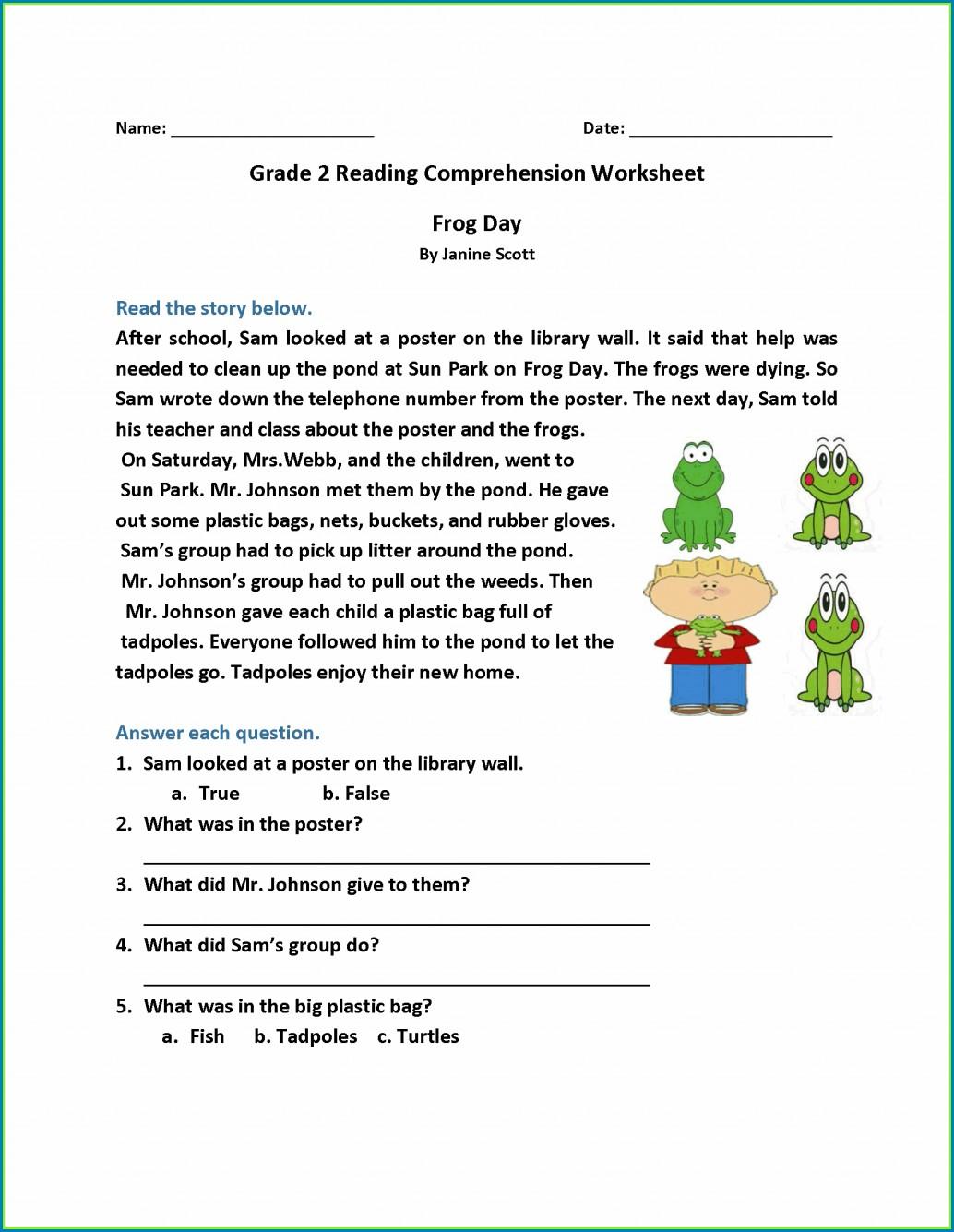 5th Grade Grade 5 Reading Comprehension Worksheets
