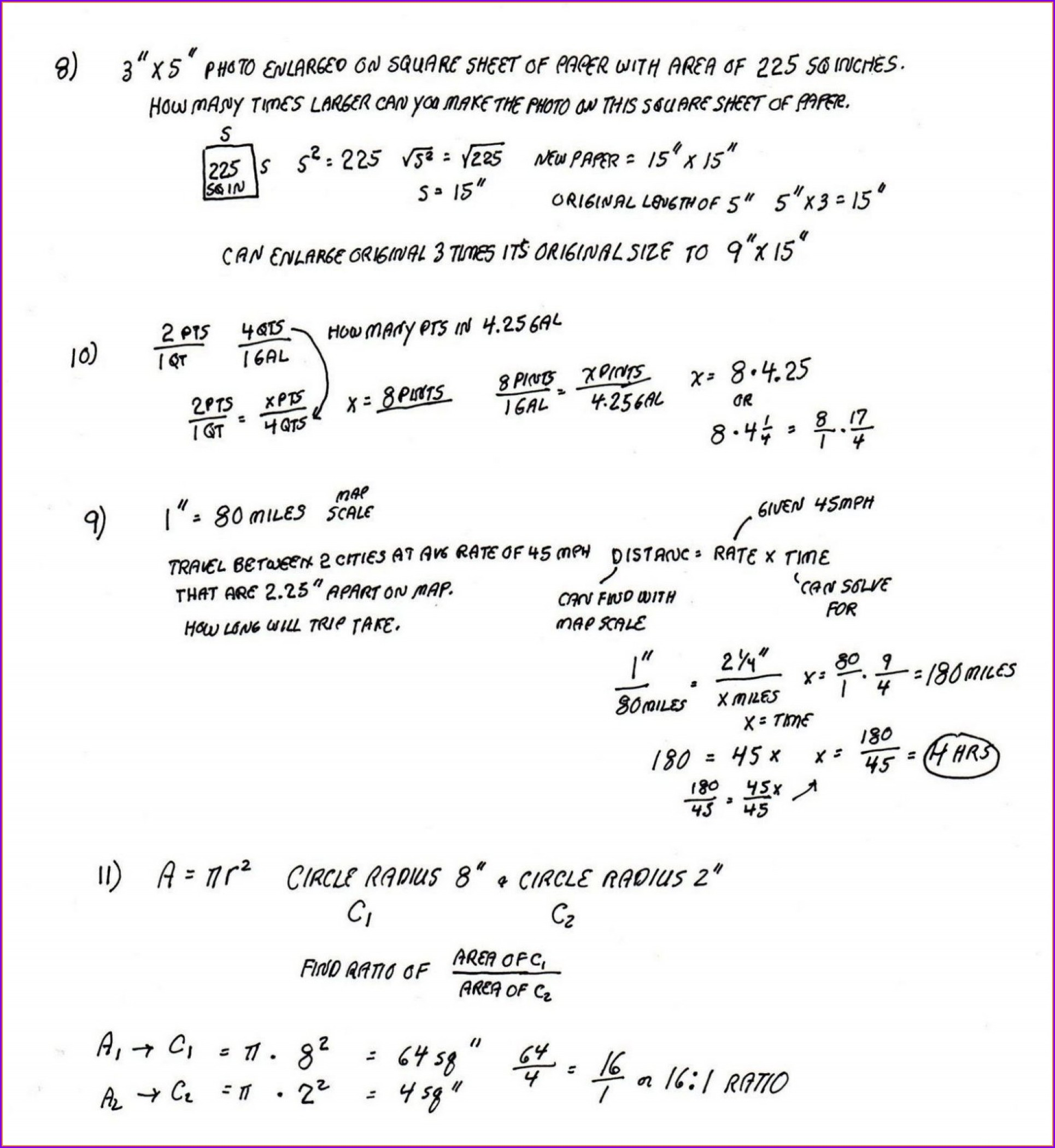 Grade 7 7th Grade Math Word Problems Worksheets With