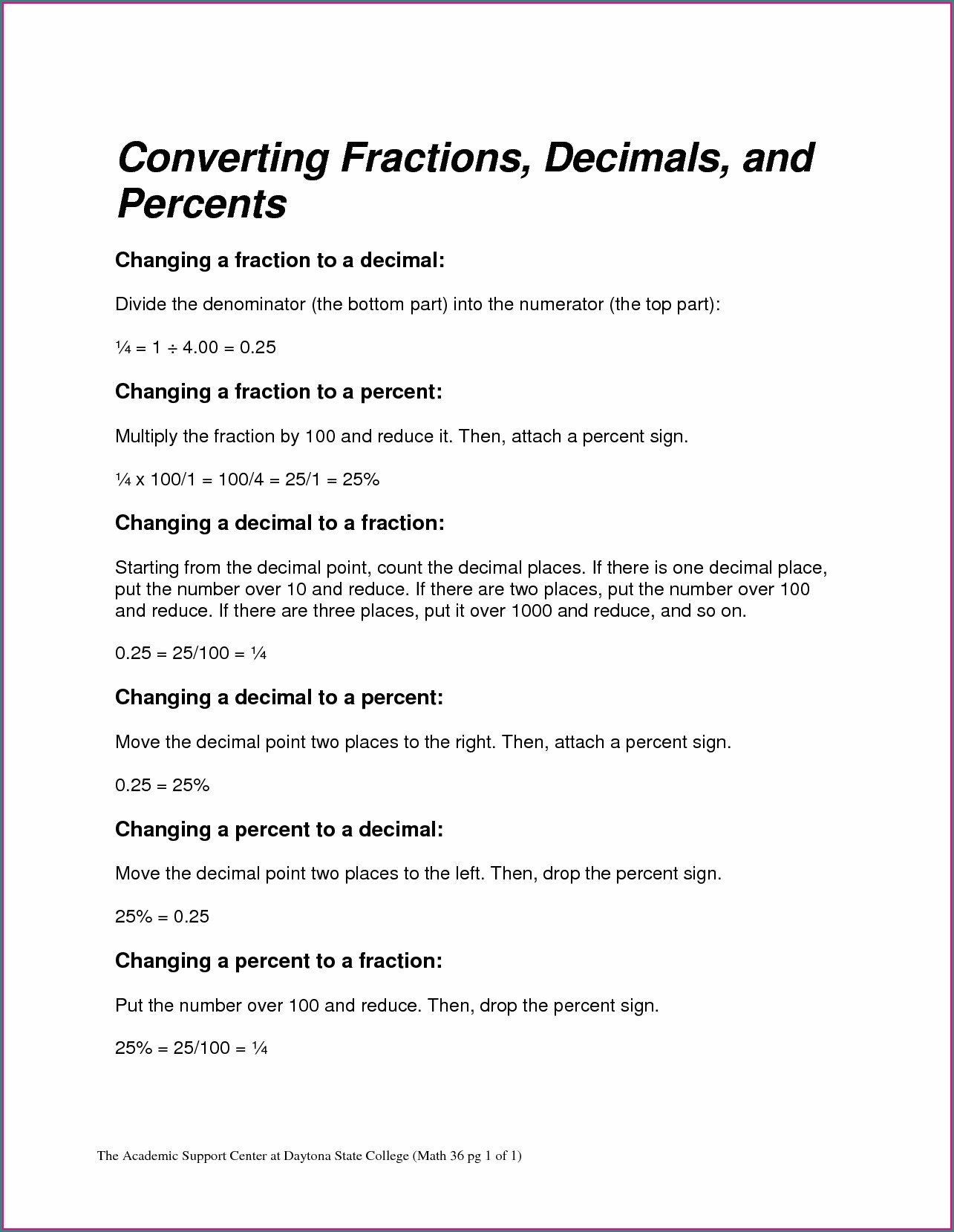 4th Grade Comparing Decimals And Fractions Worksheet