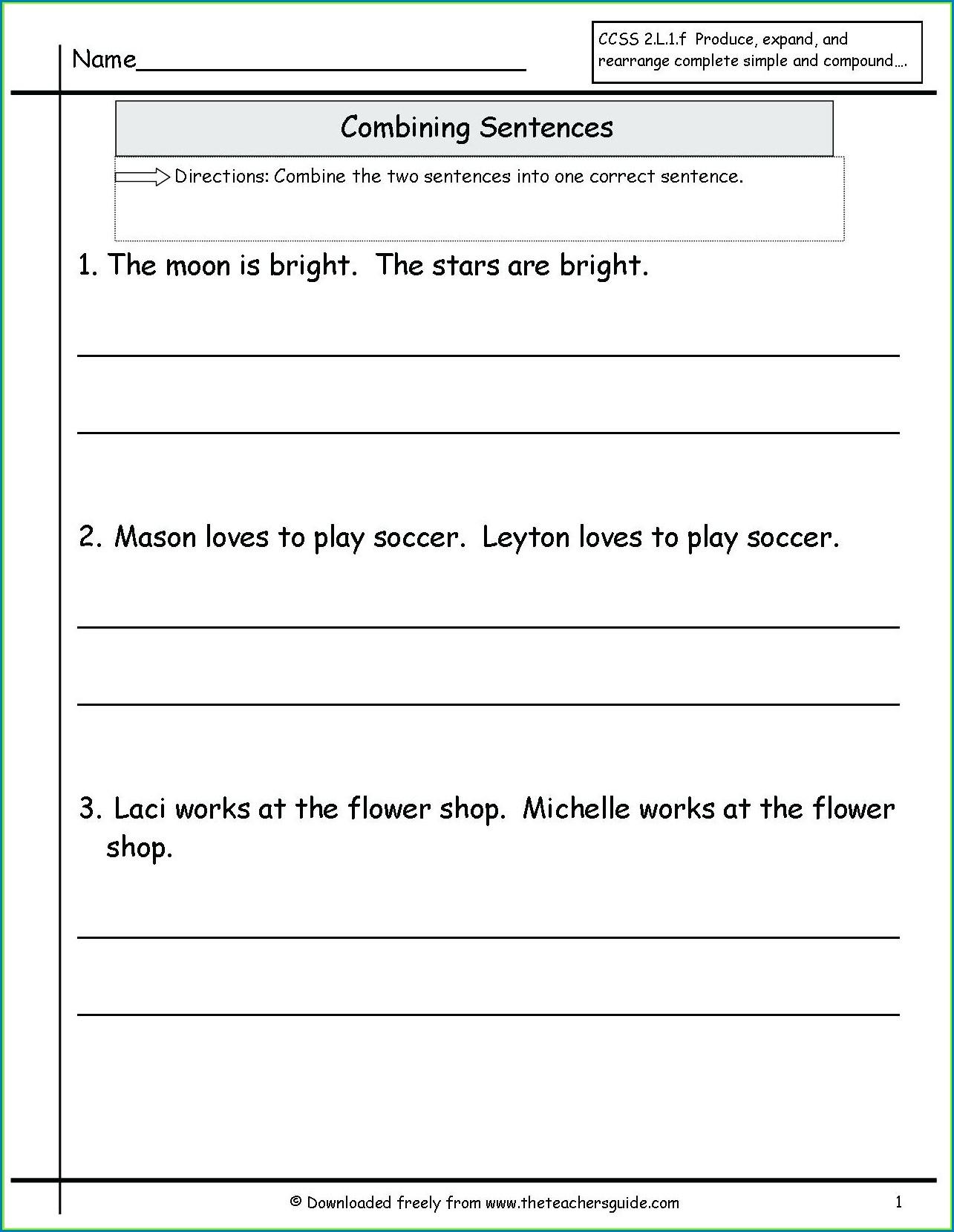 Diagramming Compound Sentences Worksheet Worksheet