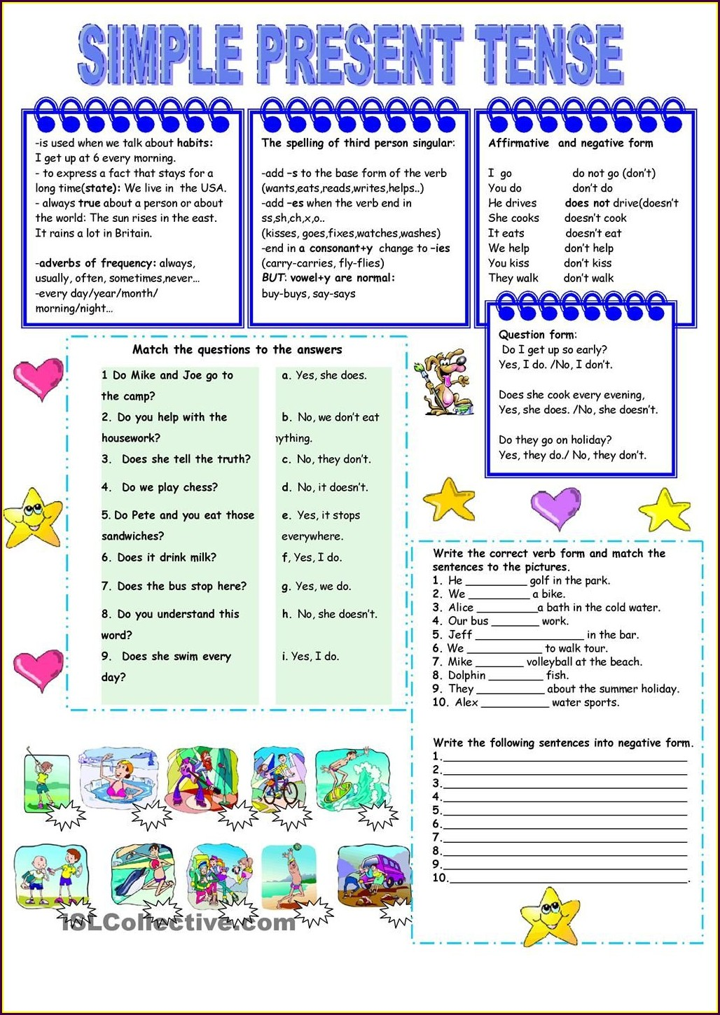 Present Perfect Continuous Tense Worksheet For Grade 5