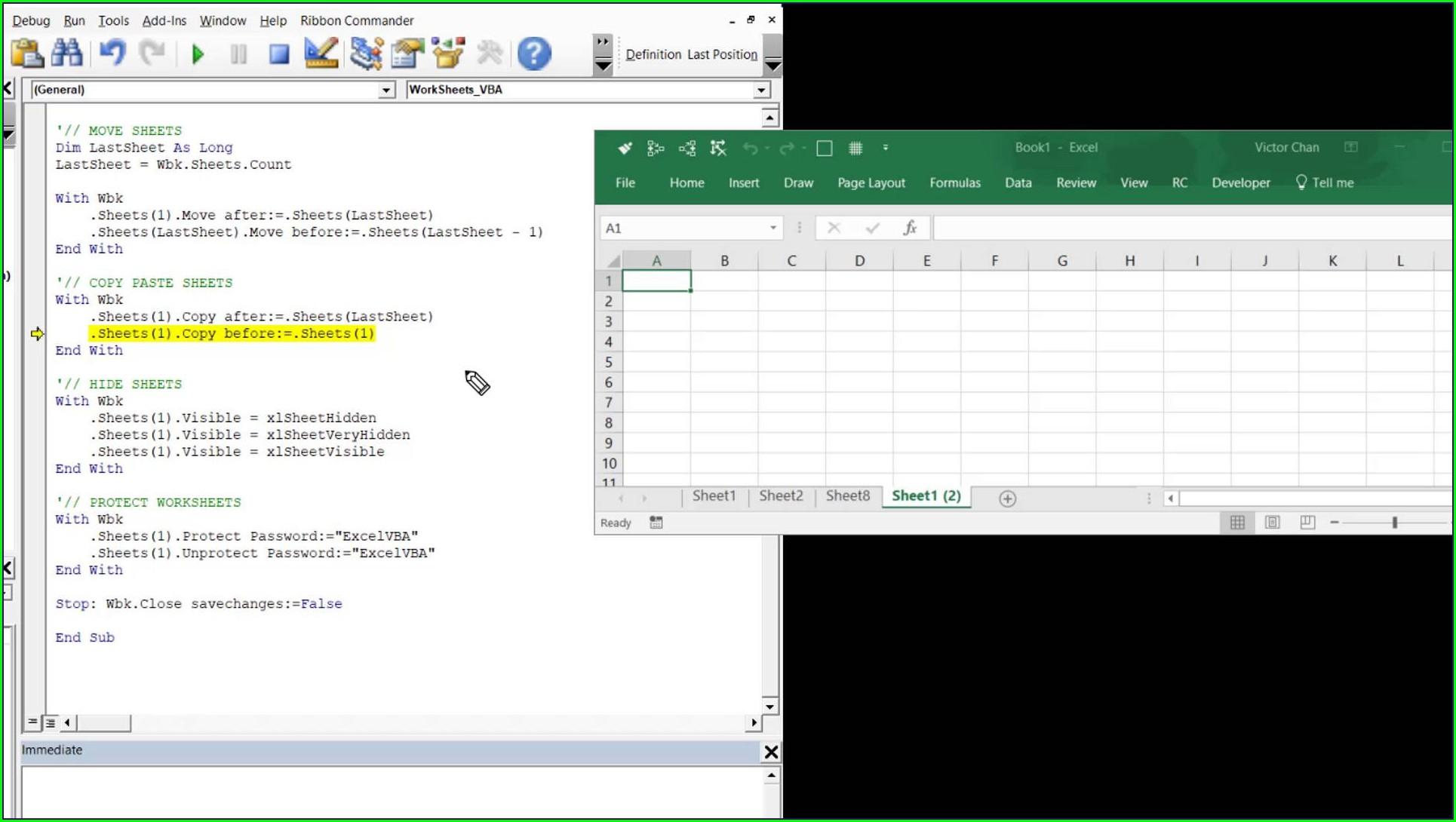 Excel Vba Worksheet Move Before Worksheet Resume Examples