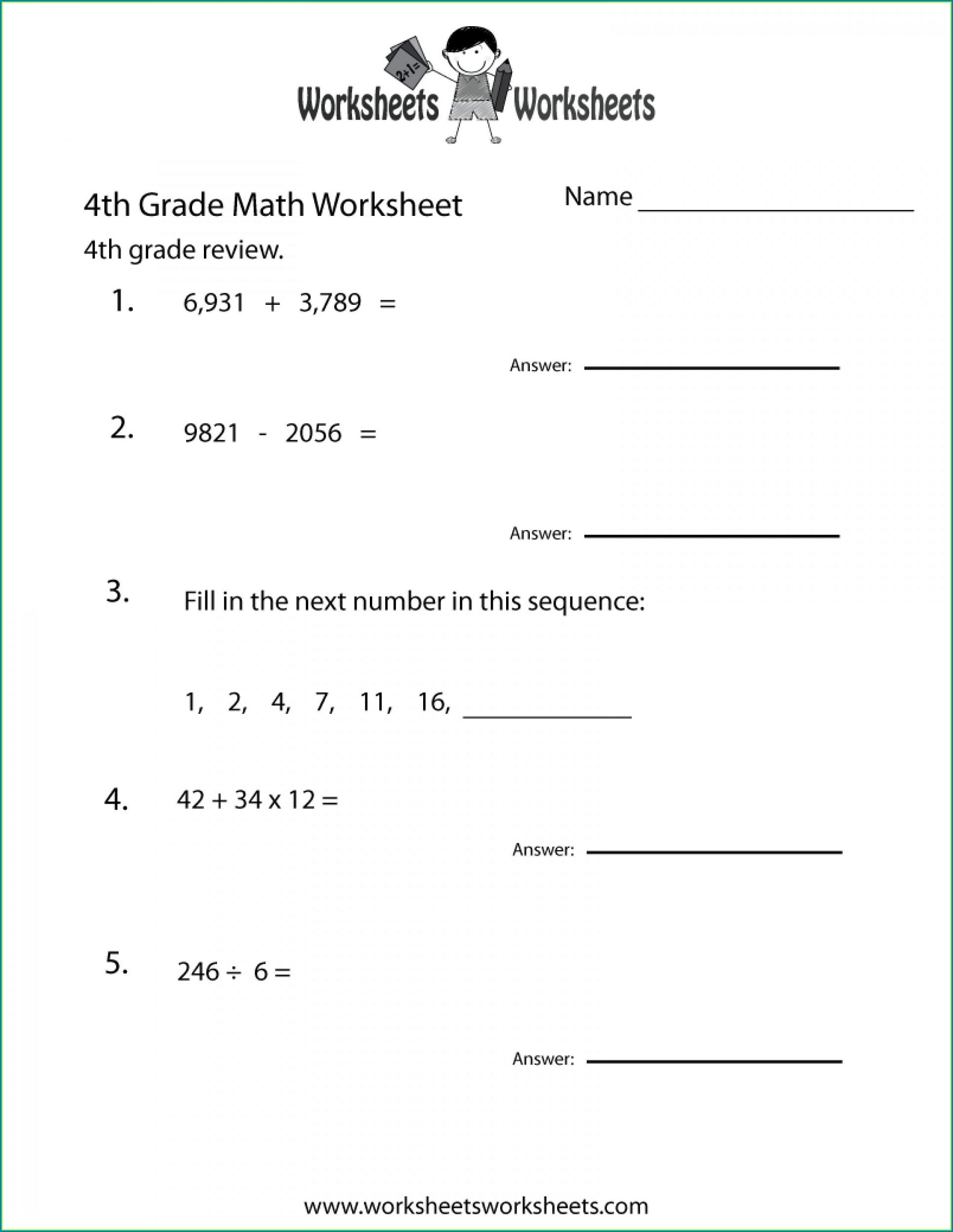 6th Grade Grade 6 Math Worksheets Decimals Worksheet