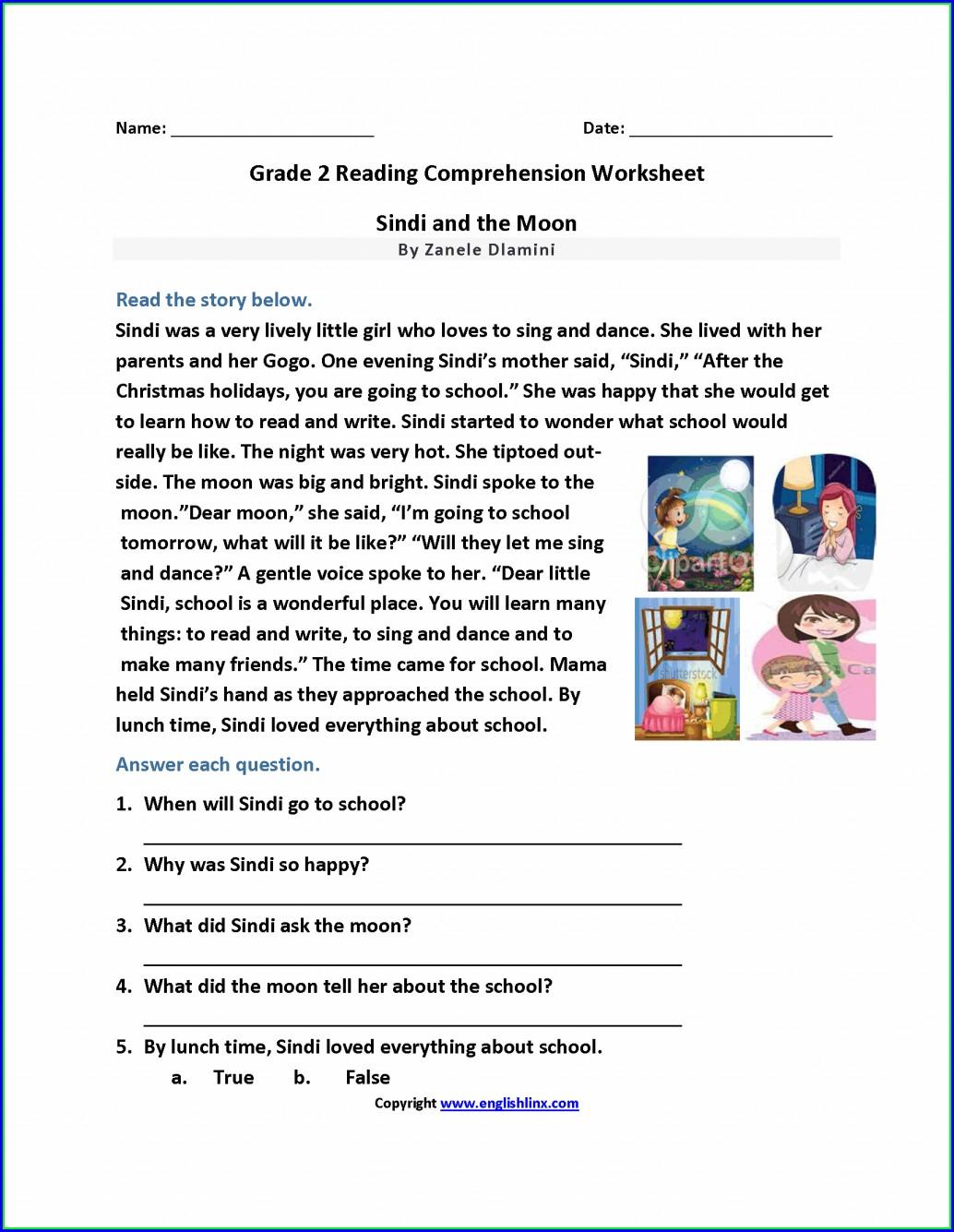 - Free Printable Reading Comprehension Worksheets For Grade 5 لم