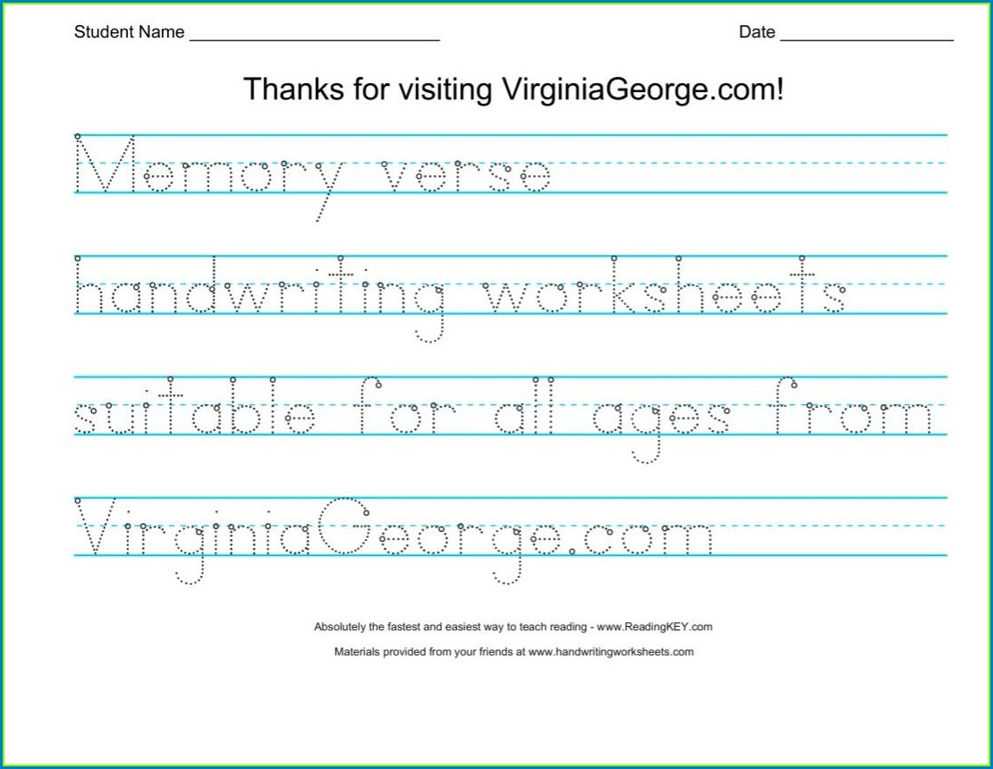 Handwriting Worksheet Generator Free Worksheet Resume
