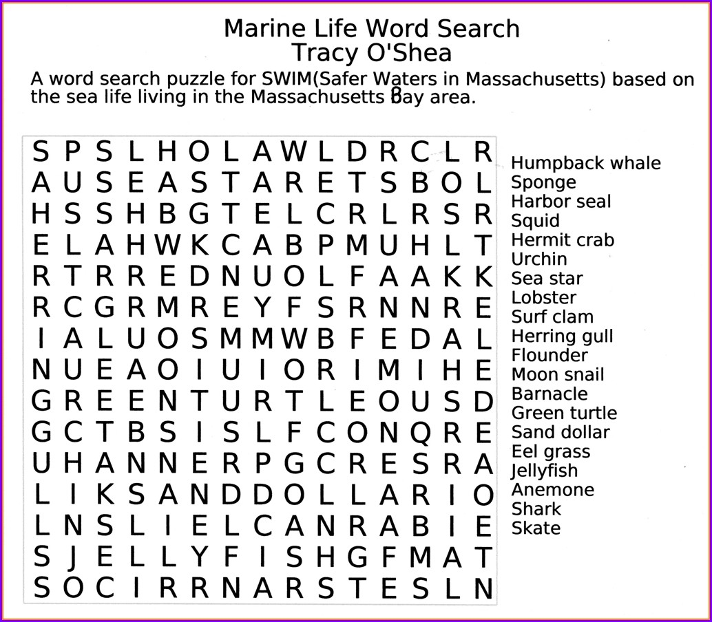 Printable Large Print Word Search Puzzles For Seniors