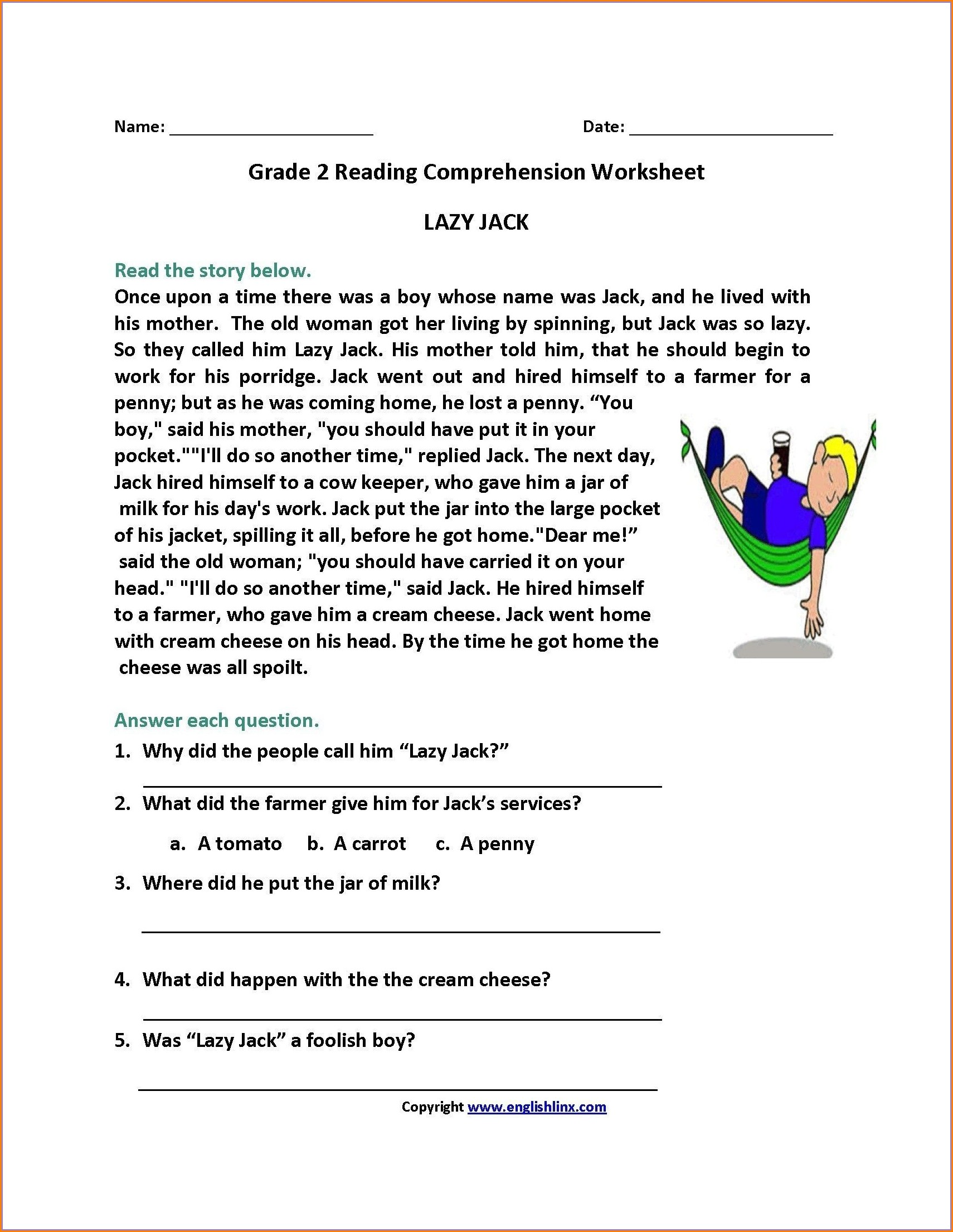 Reading Comprehension Filipino Worksheet For Grade 1