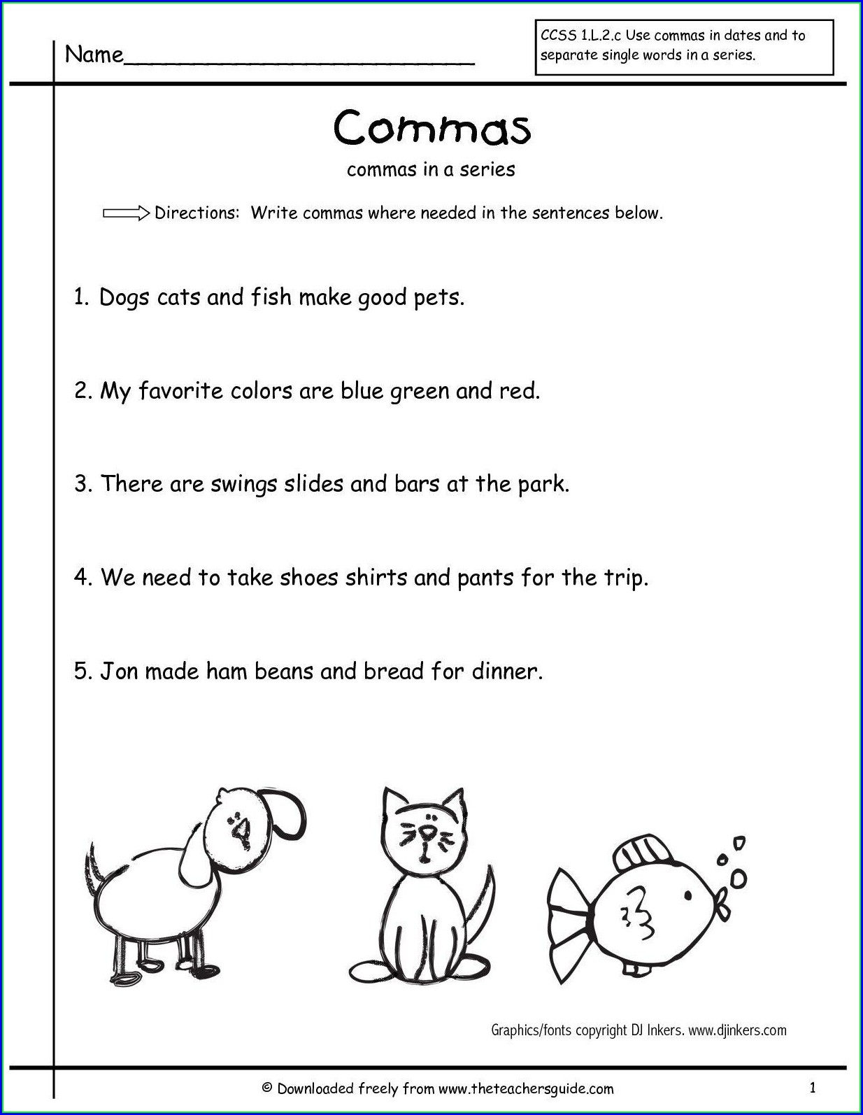 5th Grade Coordinating Conjunctions Worksheet Worksheet