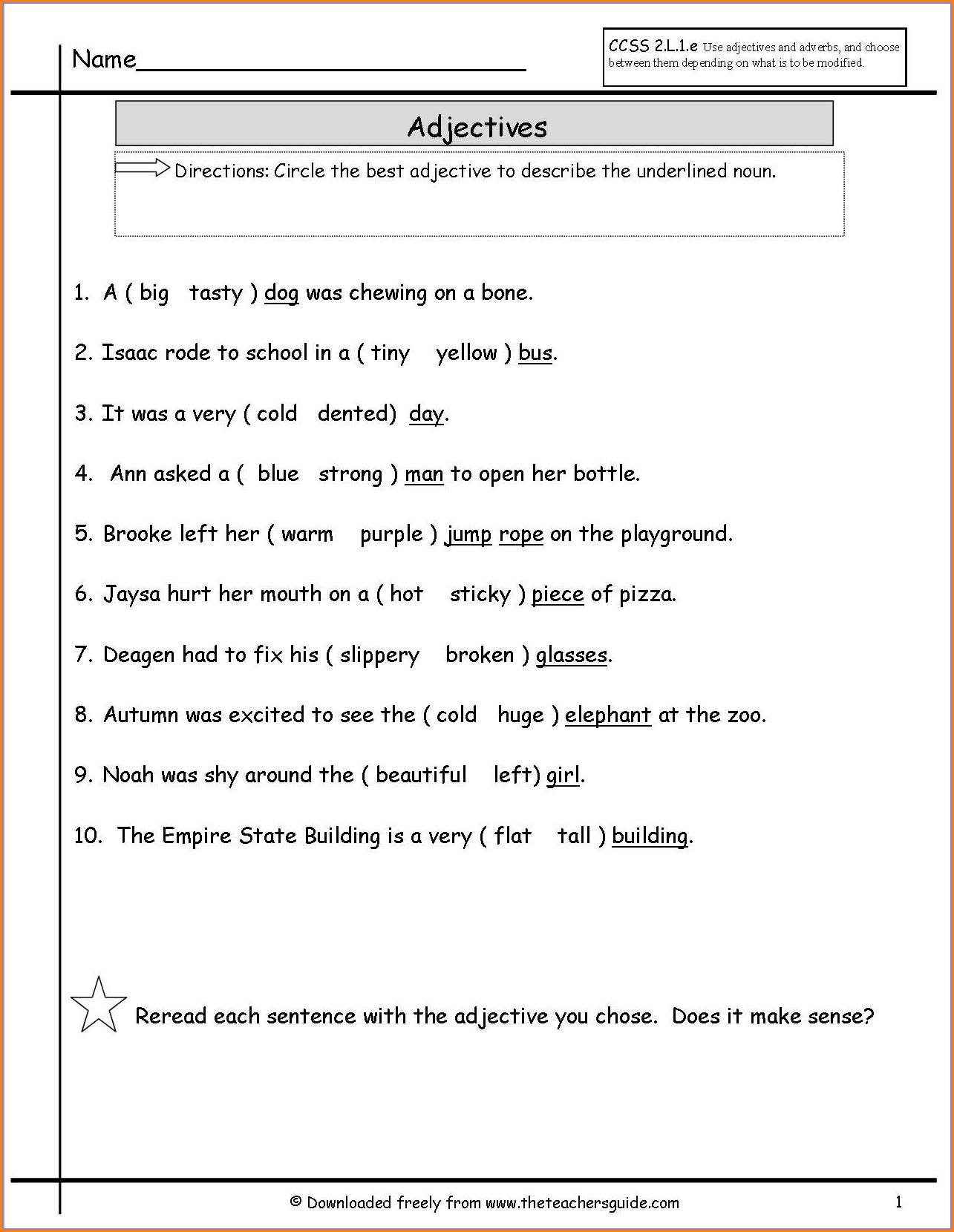 Subject Verb Agreement Worksheet 1st Grade Worksheet