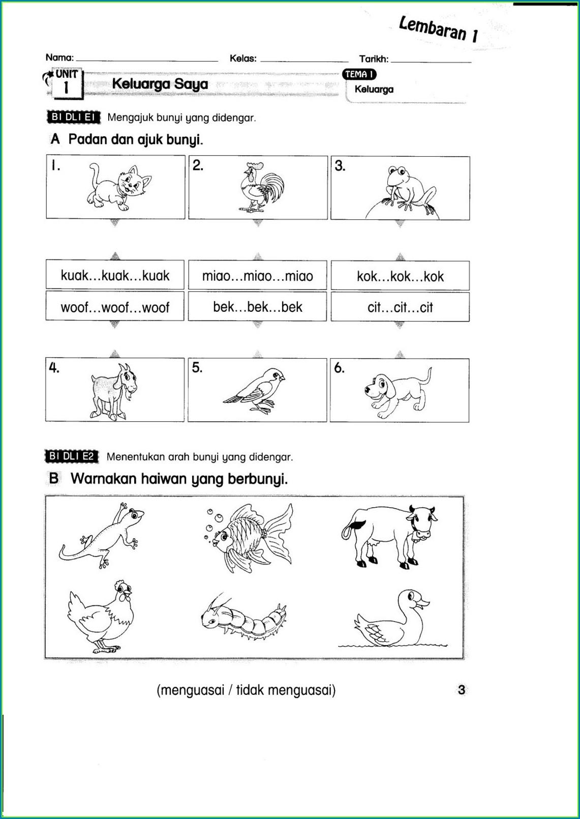 Bahasa Inggeris English Year 5 Kssr Worksheet Worksheet