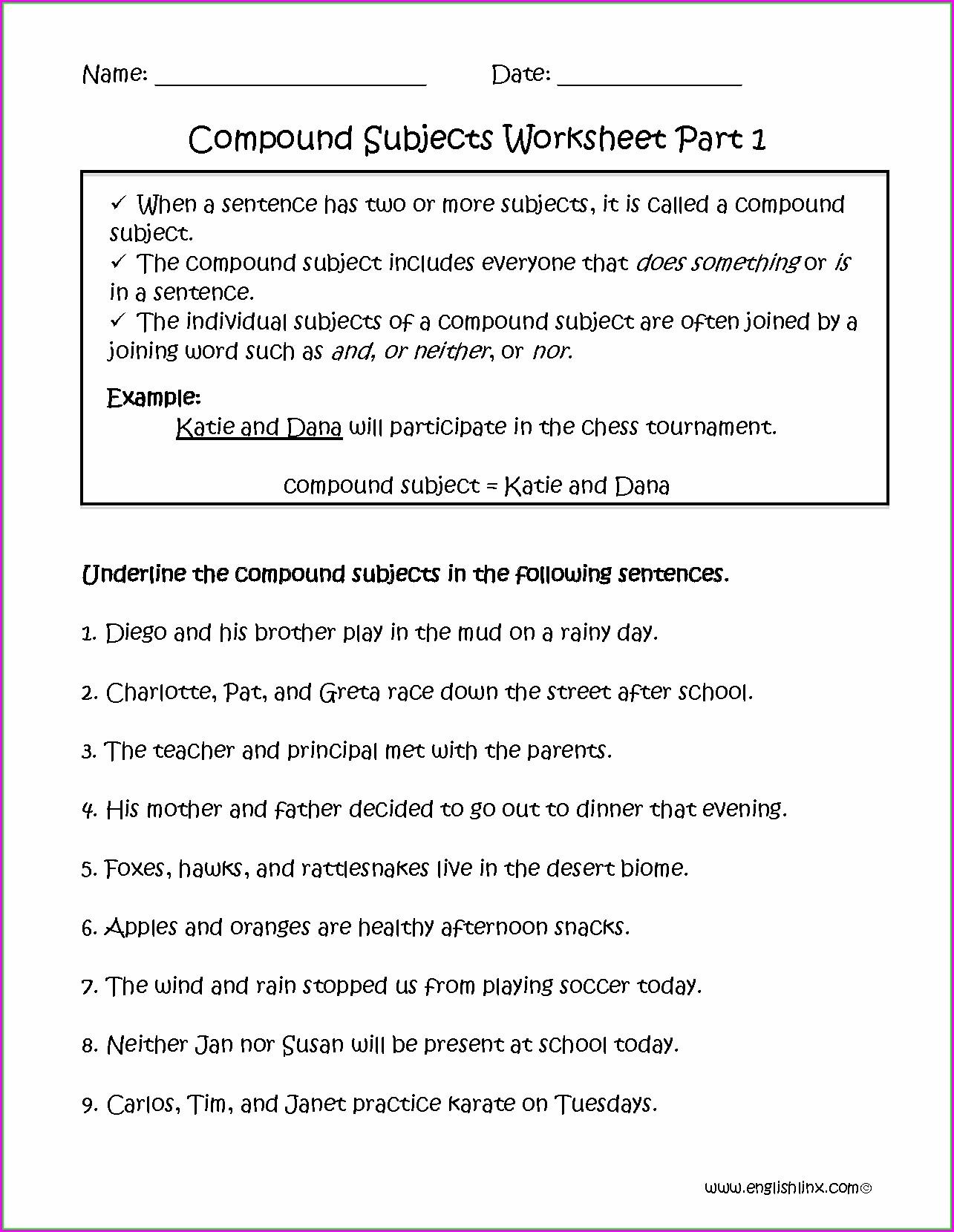 Subject Verb Agreement Worksheet For Grade 2 Worksheet