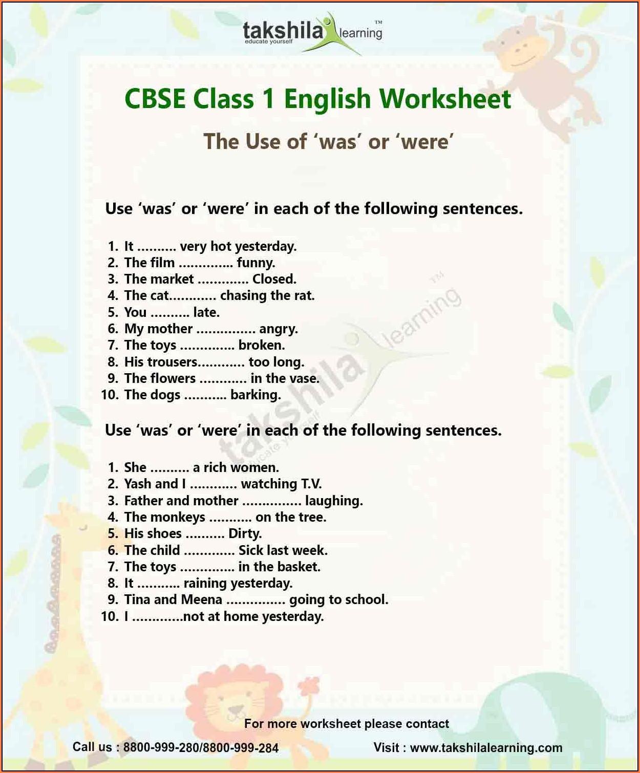- English Grammar Worksheets For Class 2 Cbse لم يسبق له مثيل الصور