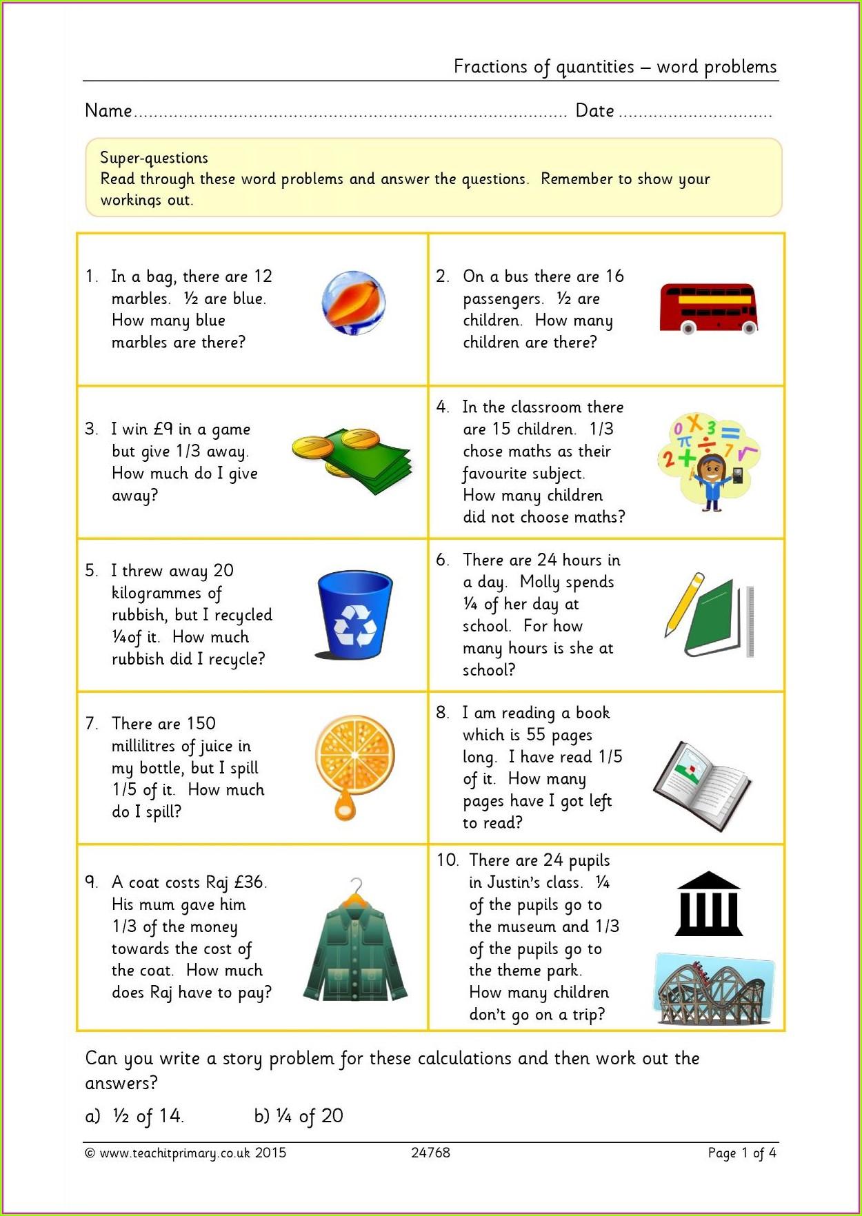 Adding Fractions Year 6 Worksheet Worksheet Resume Examples