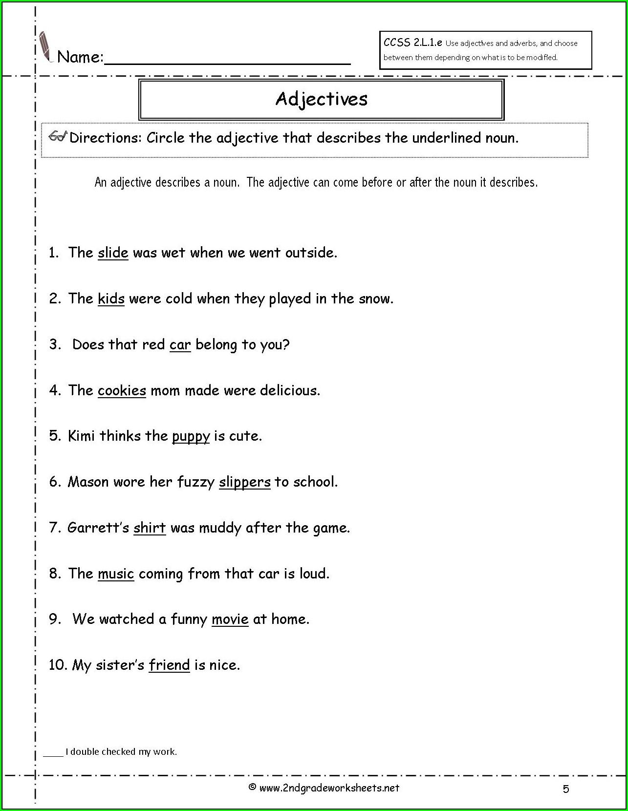 Grade 2 Ly Adverbs Worksheet Worksheet Resume Examples