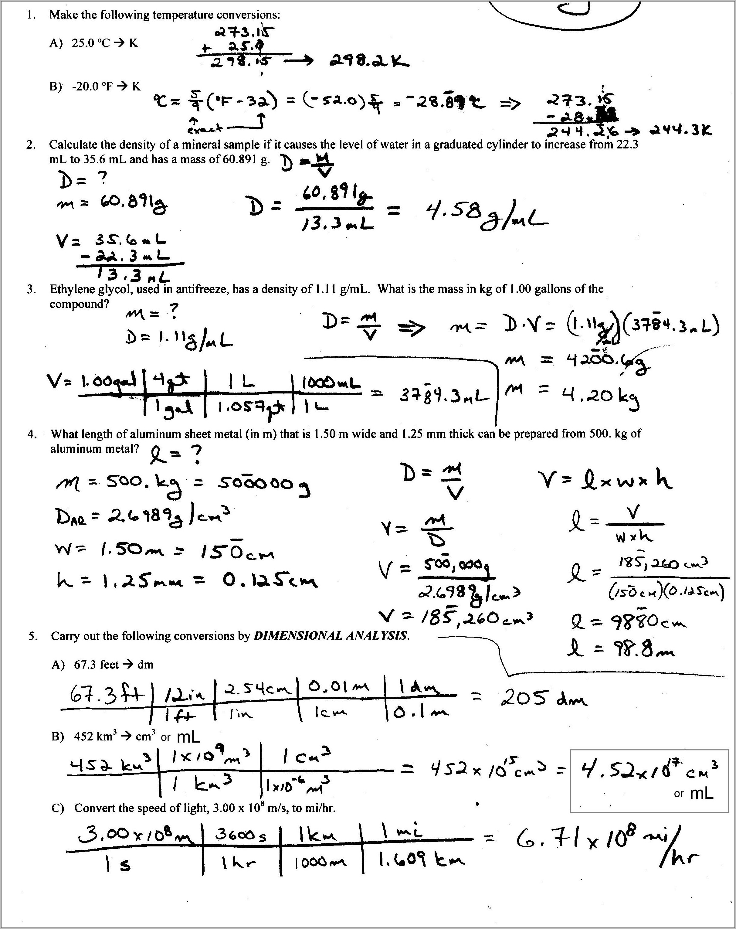 8th Grade Volume Word Problems Worksheets With Answers