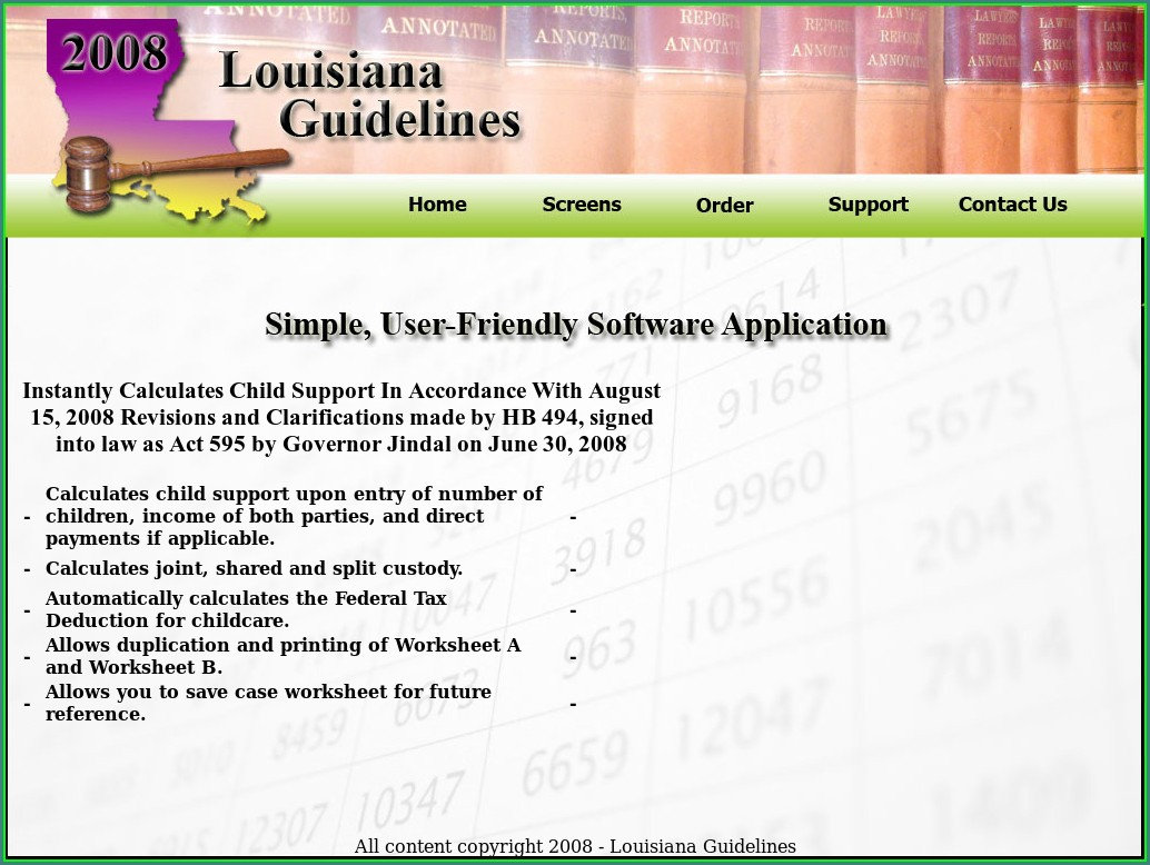 Child Support Worksheet B Louisiana Worksheet Resume