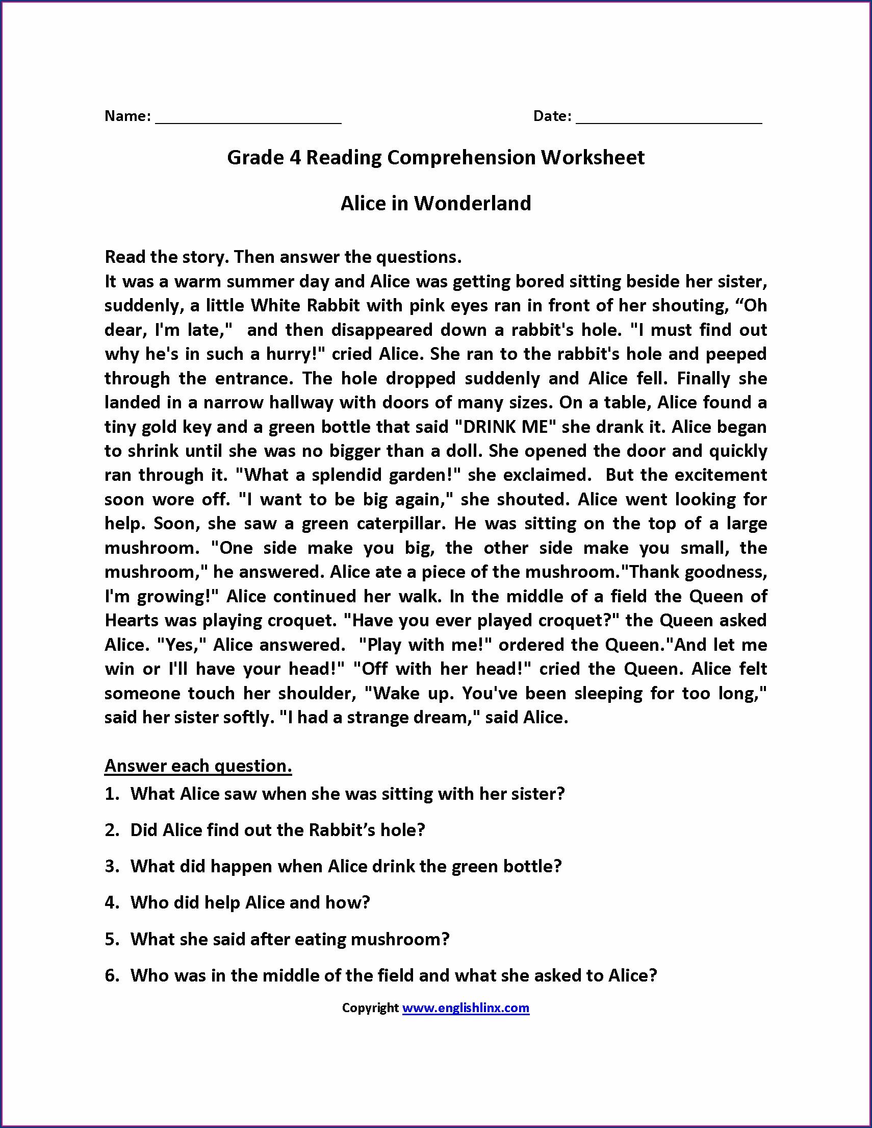 Comprehension Passages In Urdu For Grade 7 Worksheet