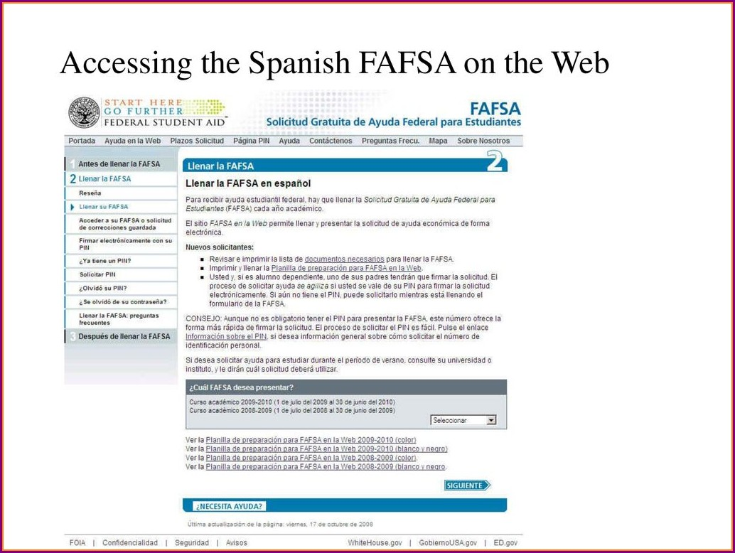 Fafsa On The Web Worksheet Spanish Worksheet Resume Examples