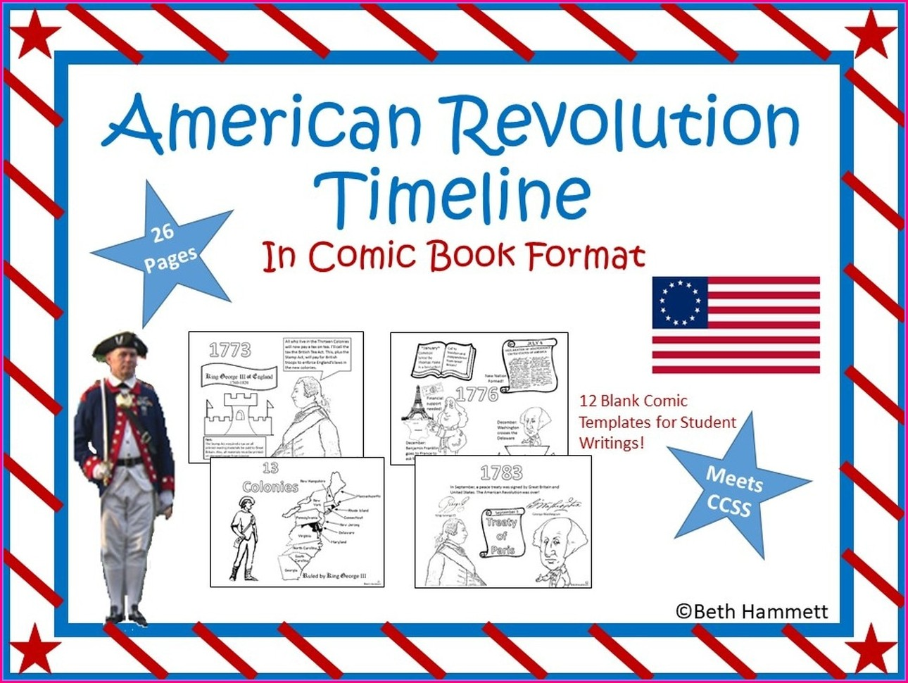 Free Printable American Revolution Timeline Worksheet