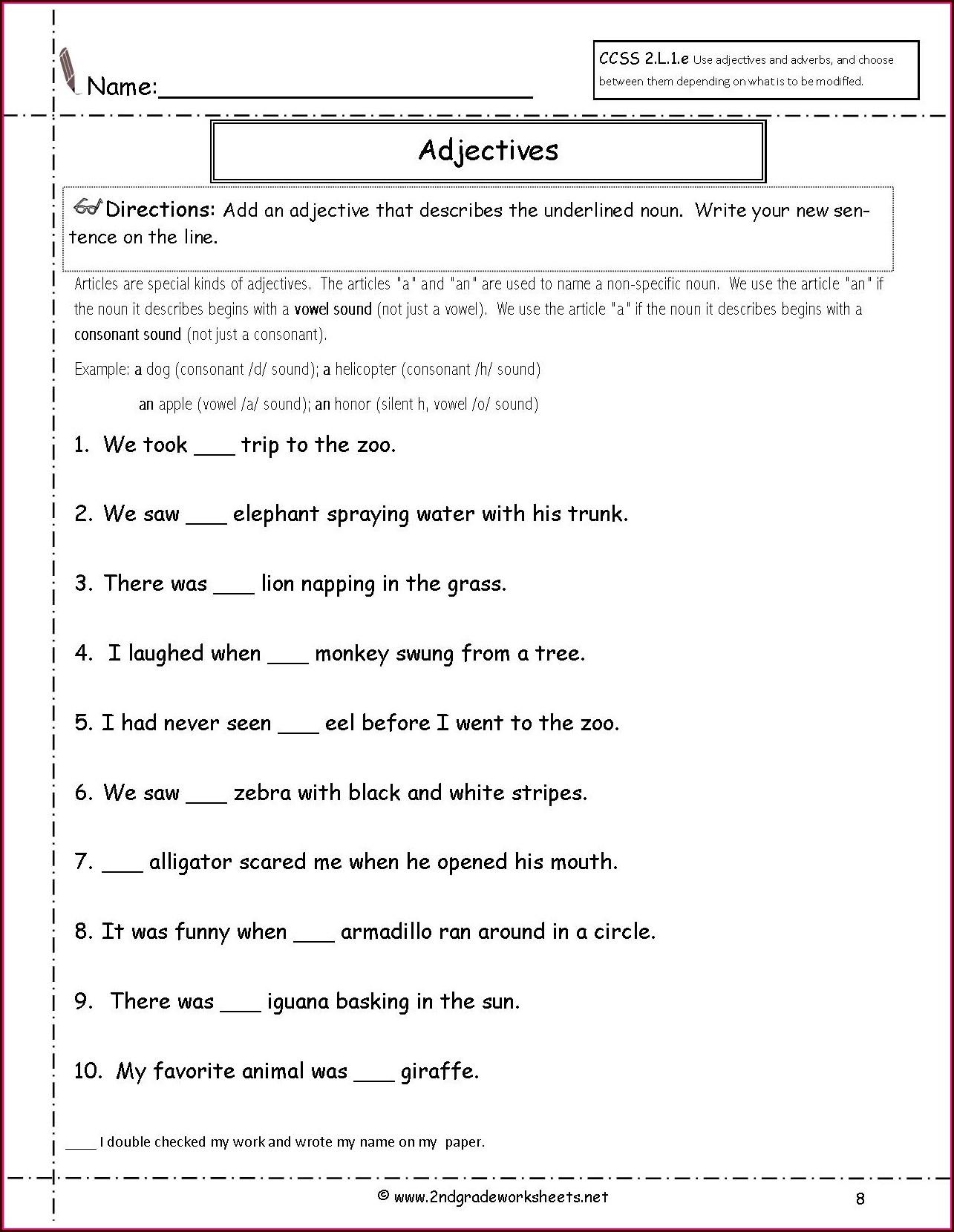 Grade 2 English Tenses Worksheet Worksheet Resume Examples