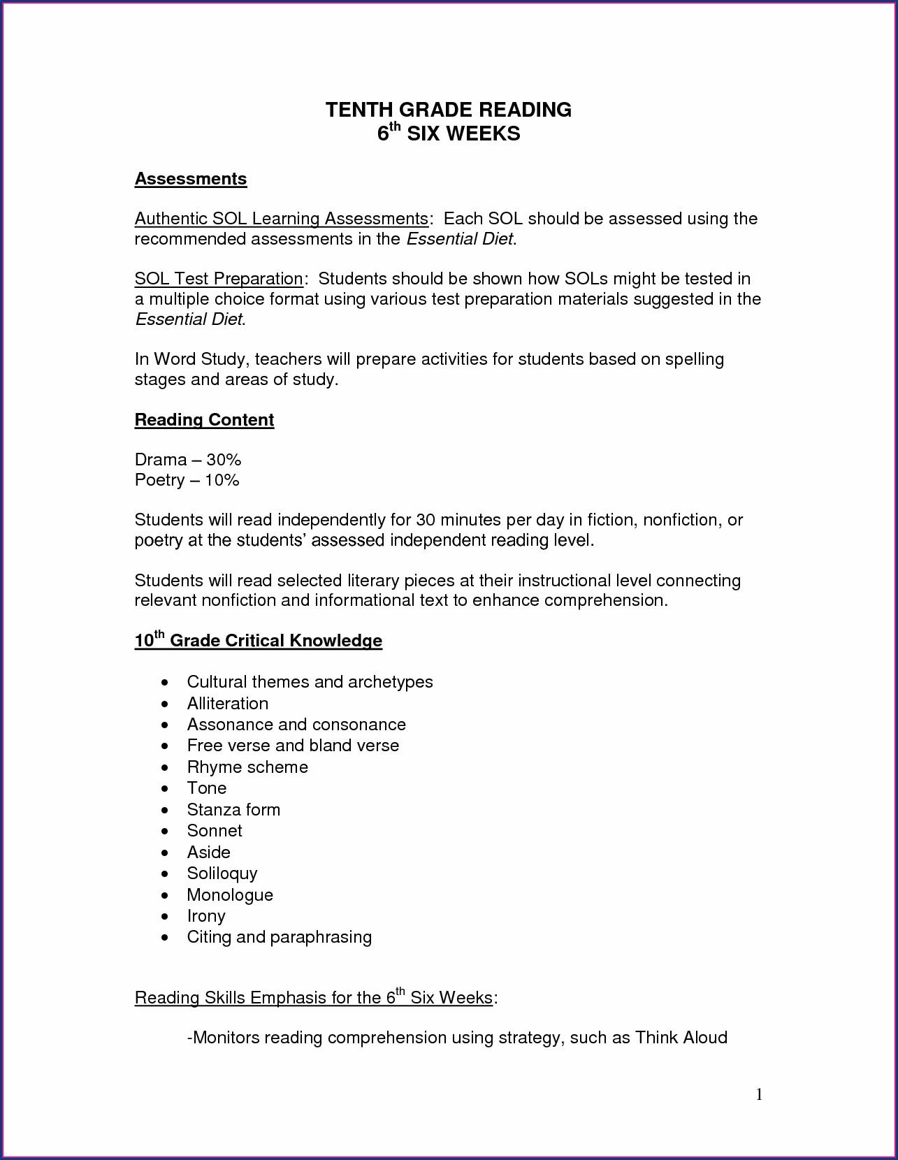 Sixth Grade Grade 6 English Worksheets Printable Worksheet