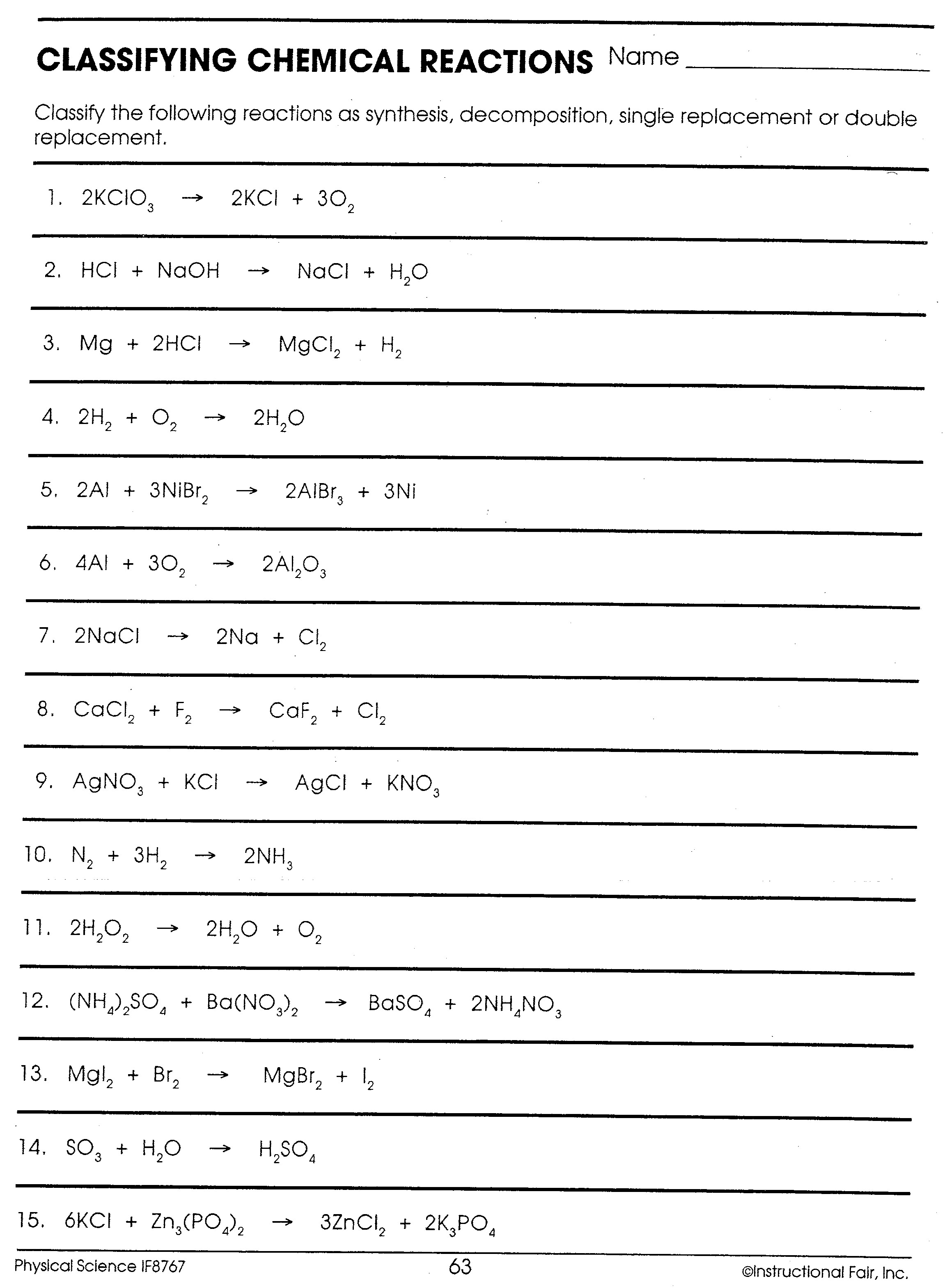 Physical Science Worksheet If Worksheet Resume Examples