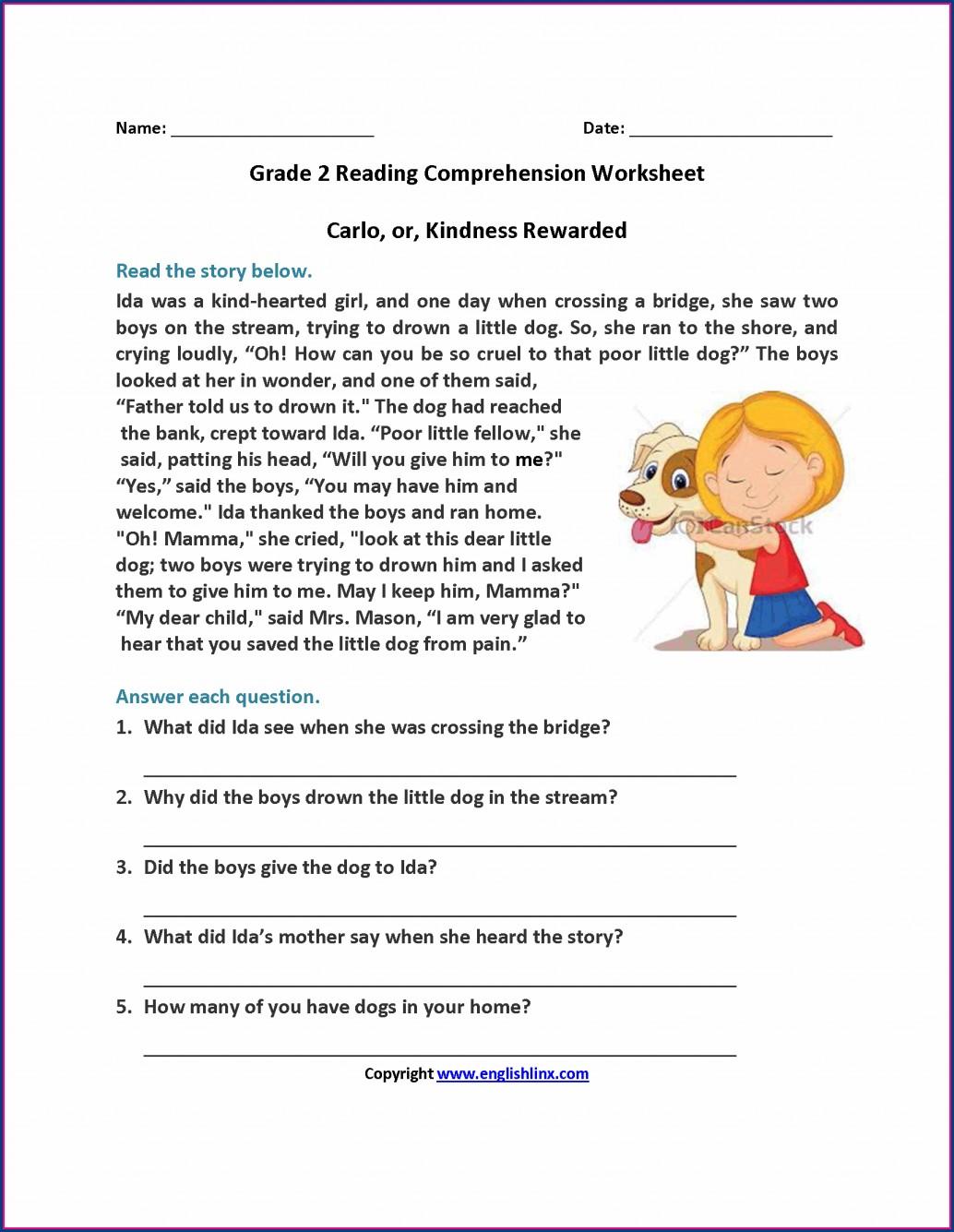 6th Grade Comprehension Worksheets For Grade 6 Worksheet