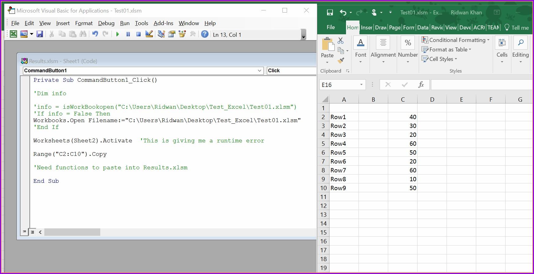 Vba Worksheet Copy To New Workbook Worksheet Resume Examples
