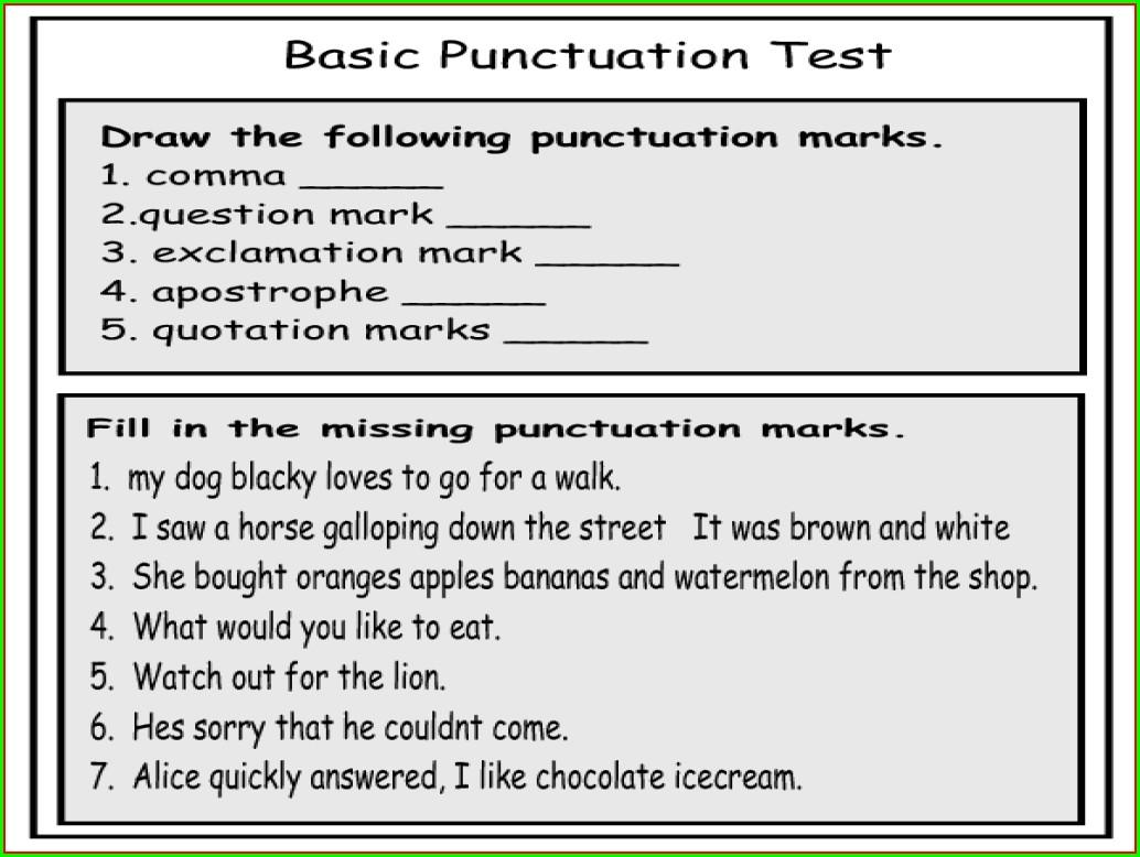 Quotation Marks First Grade Worksheet Worksheet Resume
