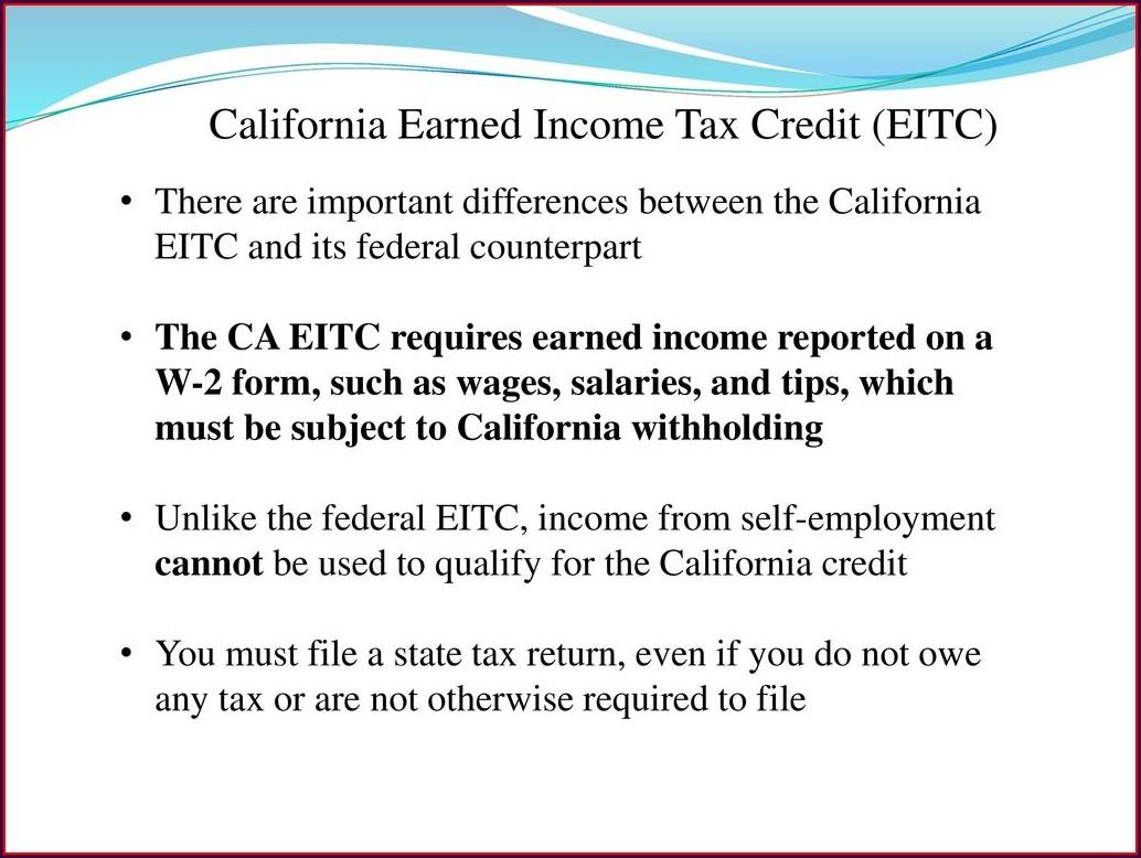 Earned Income Credit Worksheet Eic Worksheet Worksheet