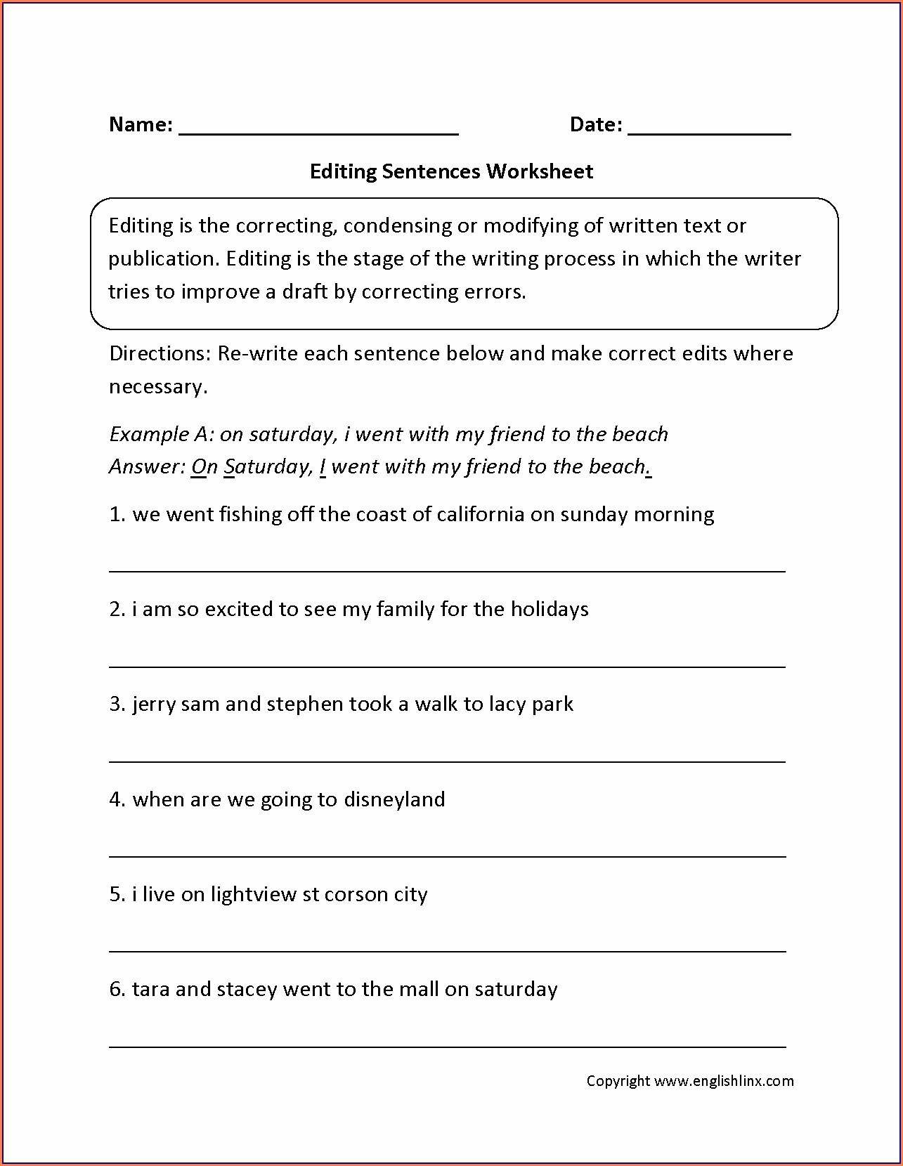 3rd Grade Types Of Sentences Worksheets Worksheet Resume