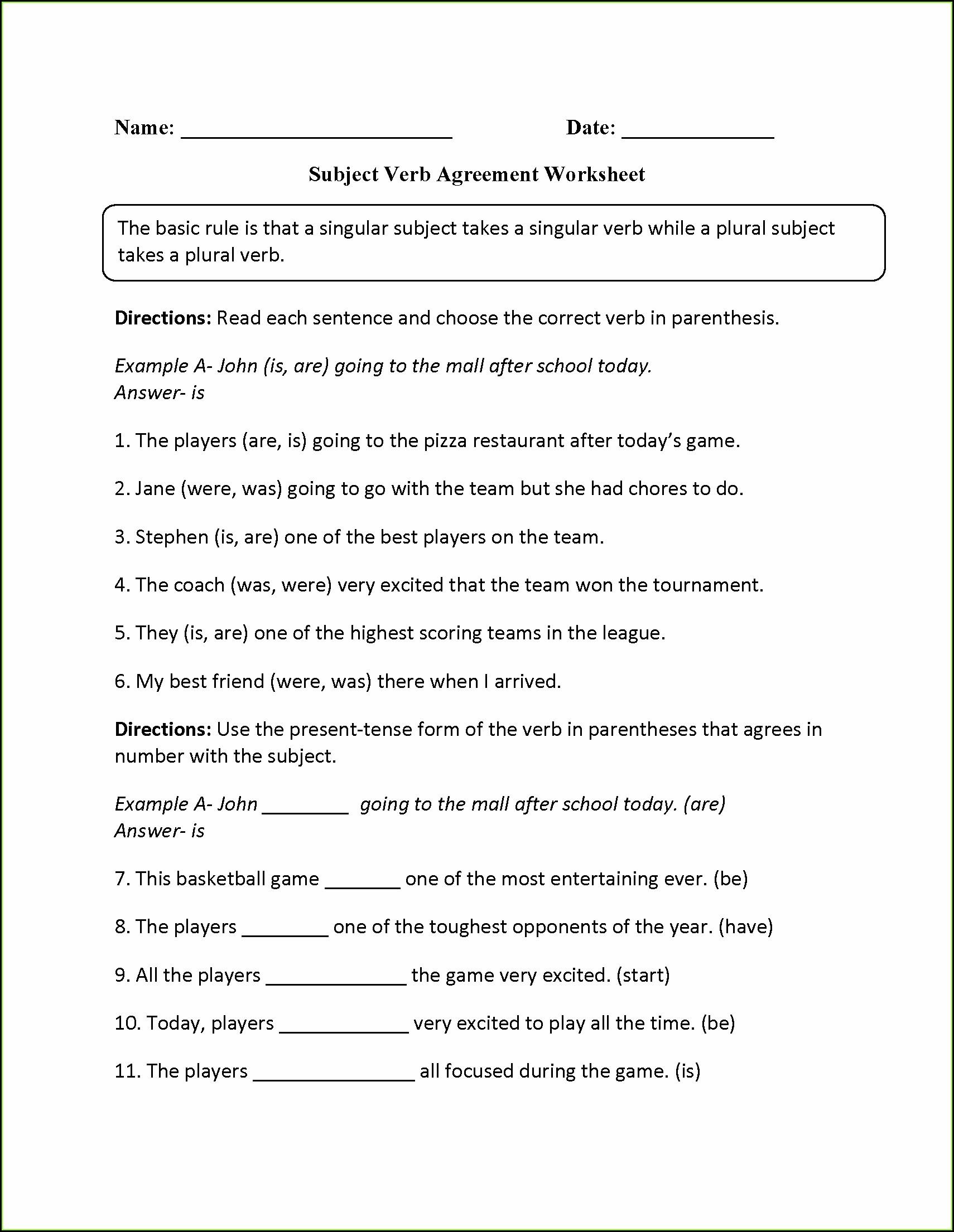 Irregular Verbs Worksheet For Third Grade Worksheet