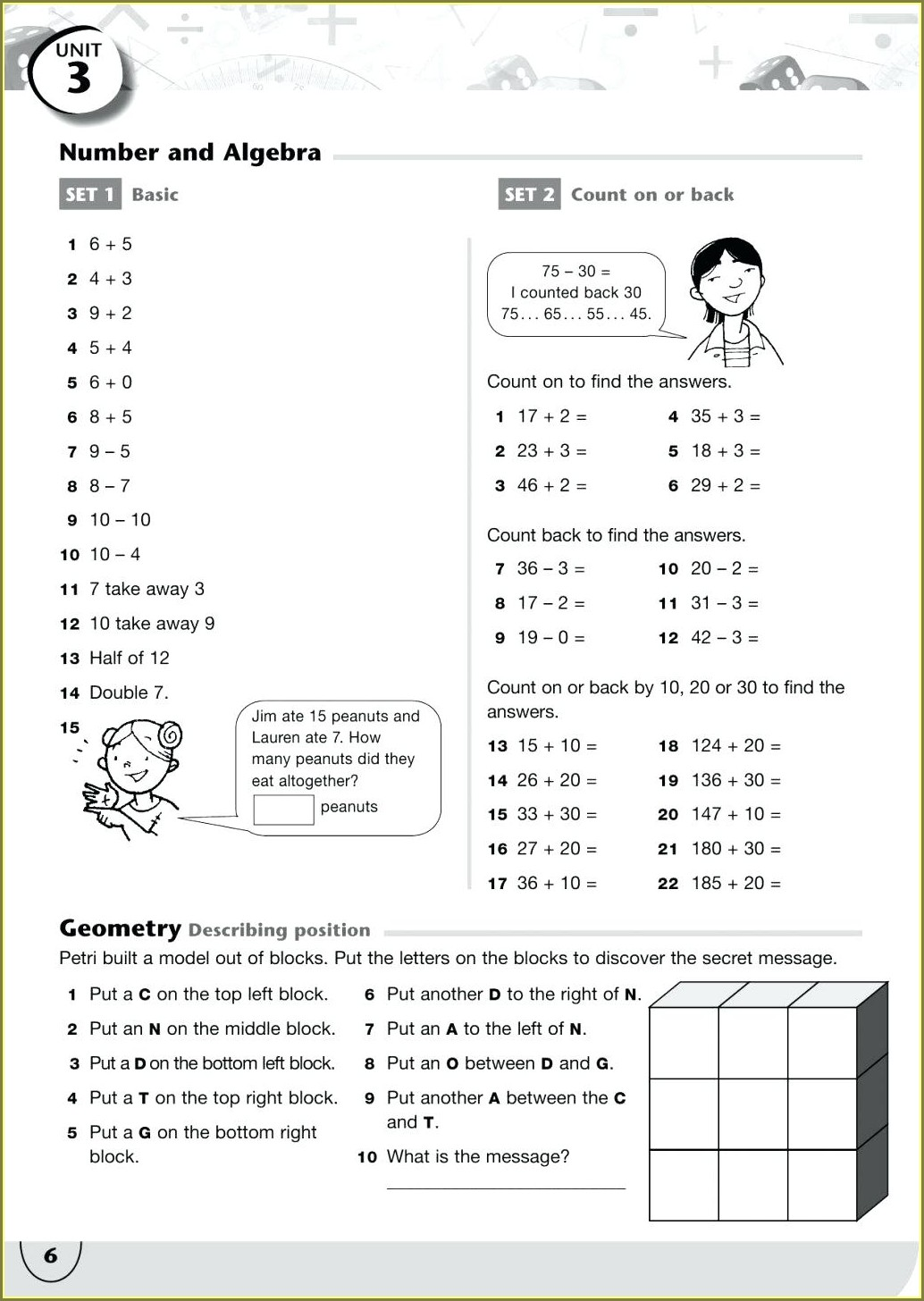 Hidden Message Math Worksheet Answers Uncategorized