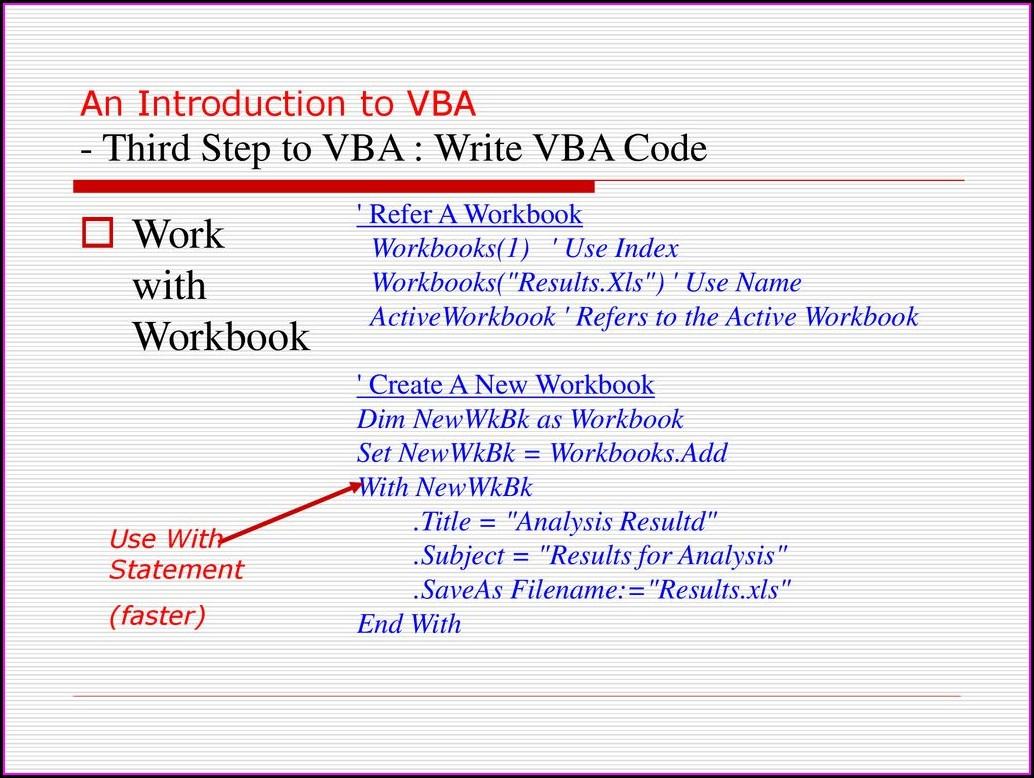 Workbook Variable Vba Excel Worksheet Resume Examples