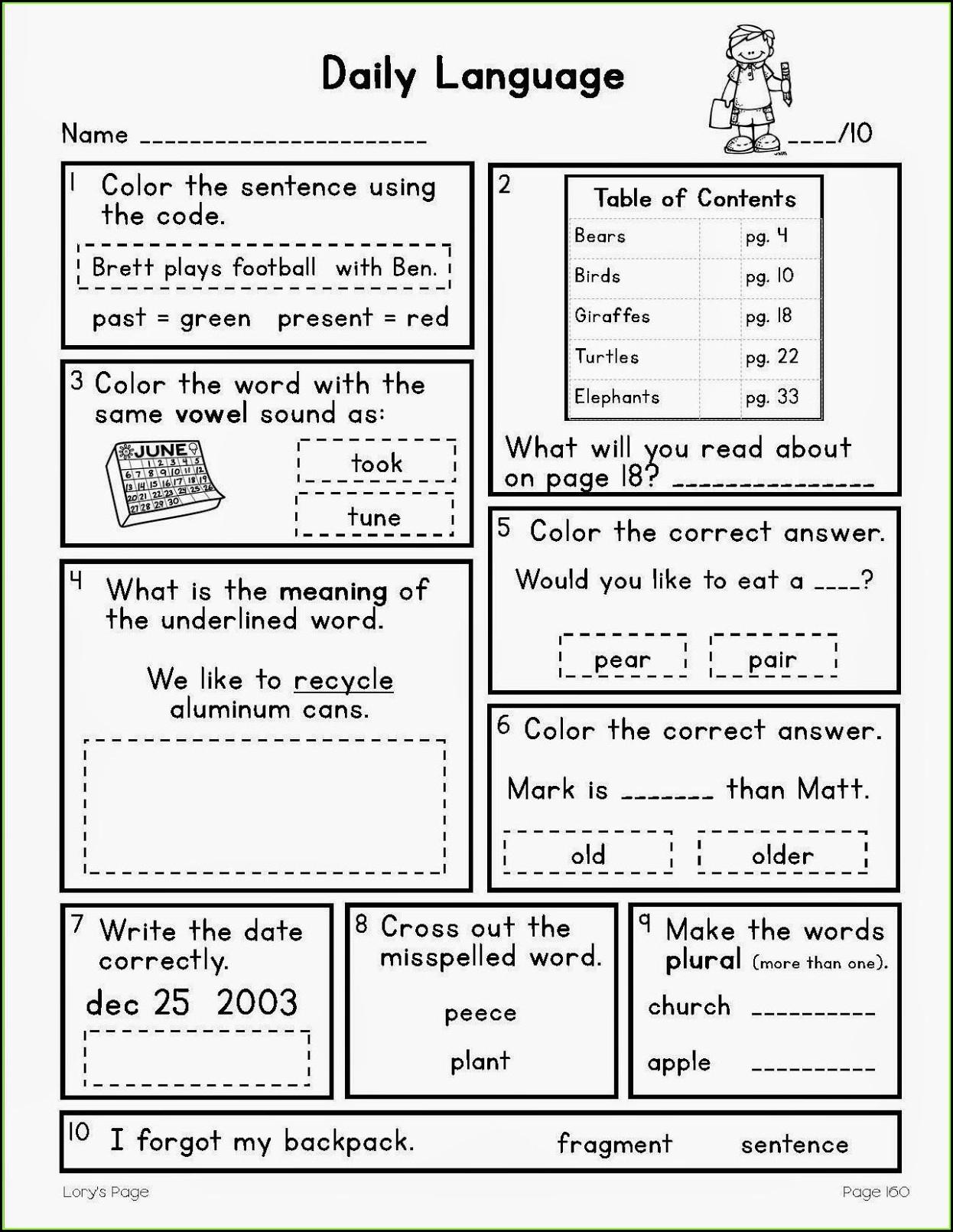 Oral Presentation Peer Grading Worksheet Worksheet
