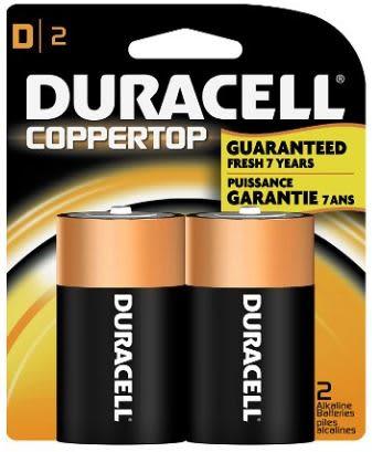 Duracell D Cell Batteries (2 Pack)