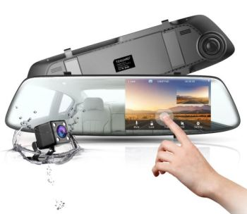 Toguard Mirror Dash Cam 4.3 Inch Touch Screen
