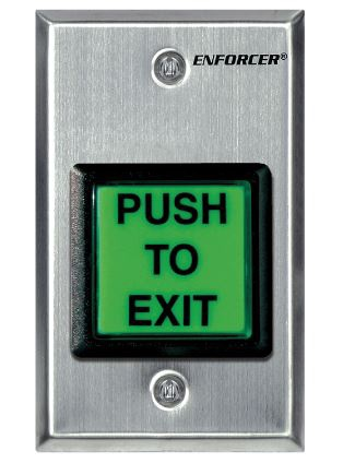 Enforcer Request to Exit Plate