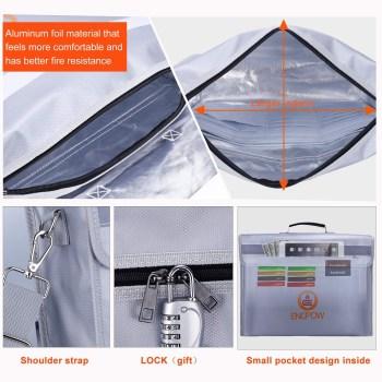 ENGPOW Fireproof Safe Fireproof Document Bag ...