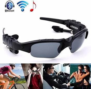 Leaden MP3 Bluetooth Sunglasses Polarized Lenses Headphone