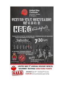 United Way Centraide SD&G HERO Kick-off Breakfast @ Royal Canadian Legion Br 297 |  |  |