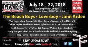 The 2018 Kemptville Live Music Festival @ Kemptville College 830 Prescott Street, Kemptville, Ontario K0G1J0 | Kemptville | Ontario | Canada