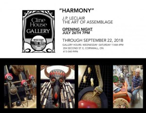 Harmony - J.P. LECLAIR @ Cline House Gallery   Cornwall   Ontario   Canada
